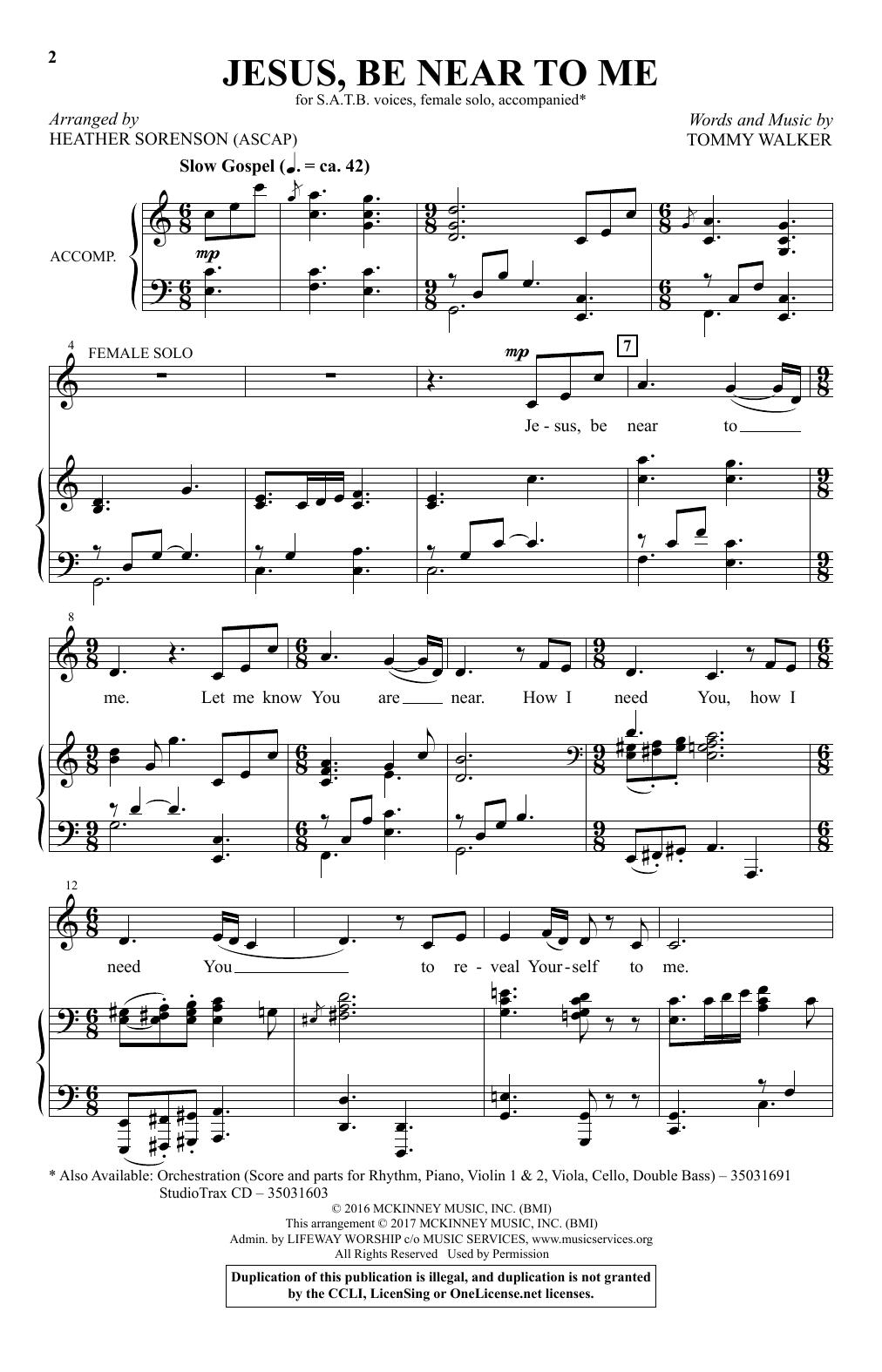 Jesus, Be Near To Me (SATB Choir)