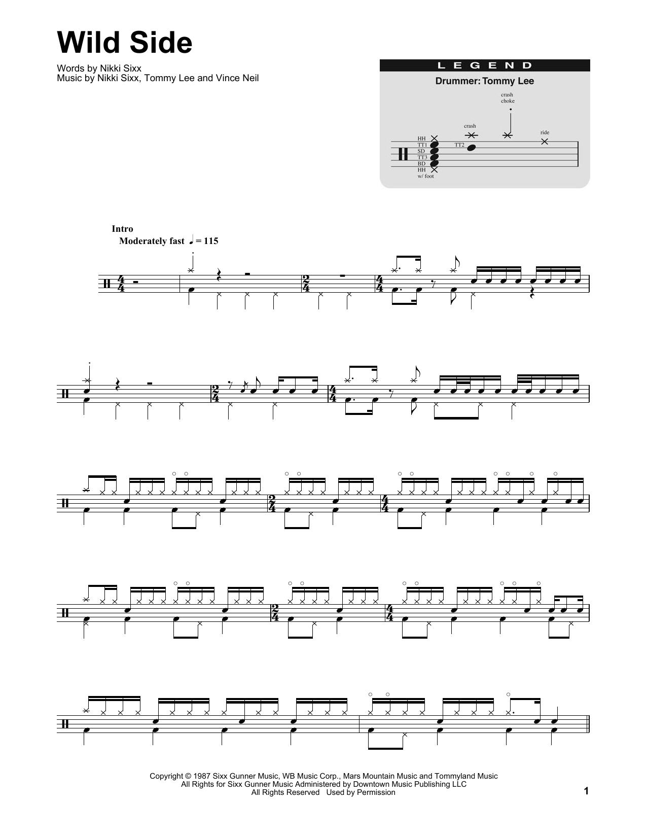 Wild Side (Drums Transcription)