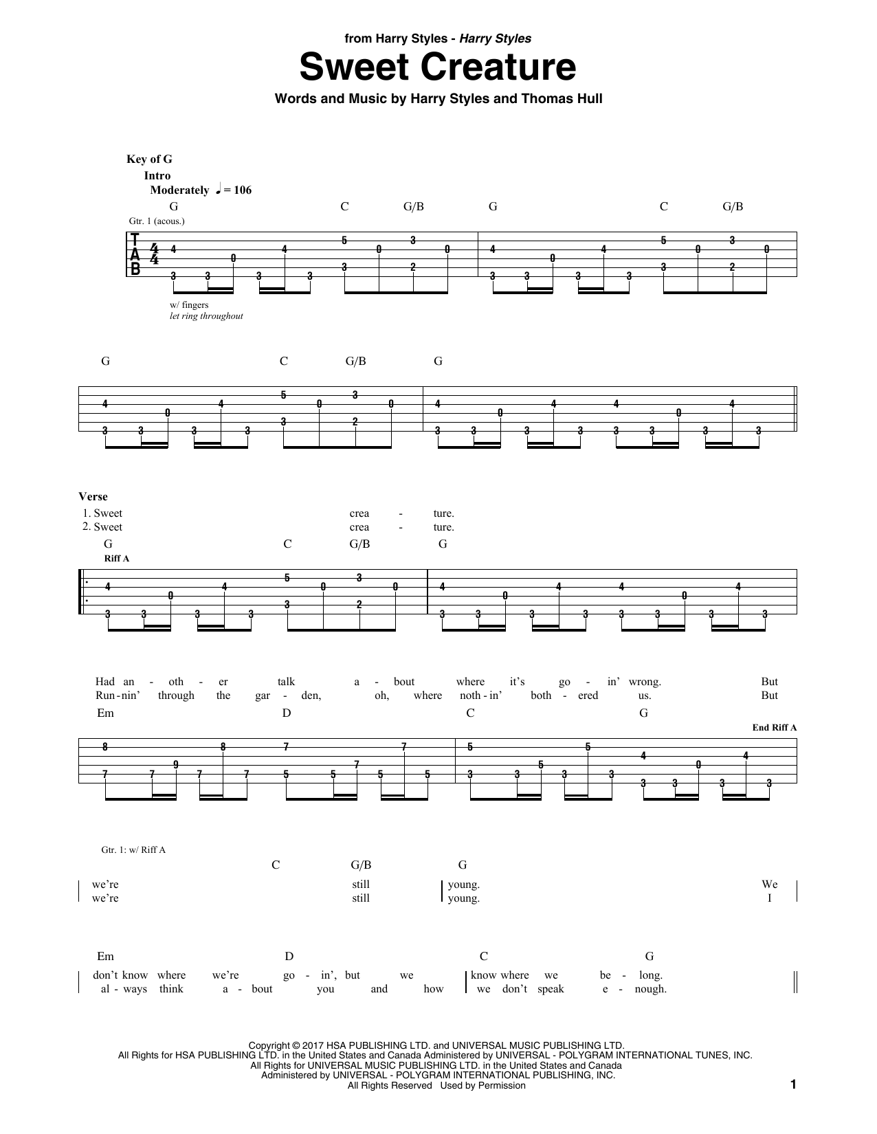 partition guitare 2017