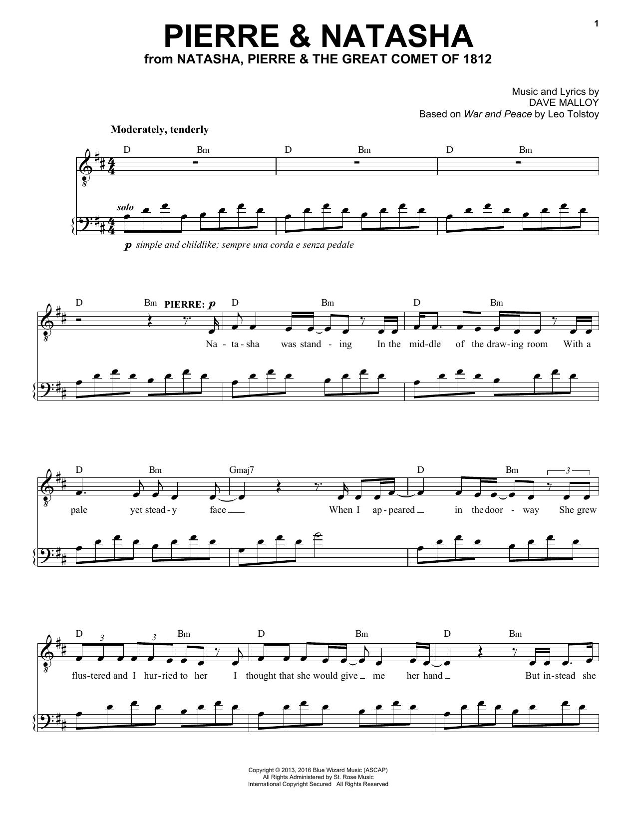 Pierre & Natasha (from Natasha, Pierre & The Great Comet of 1812) (Piano & Vocal)