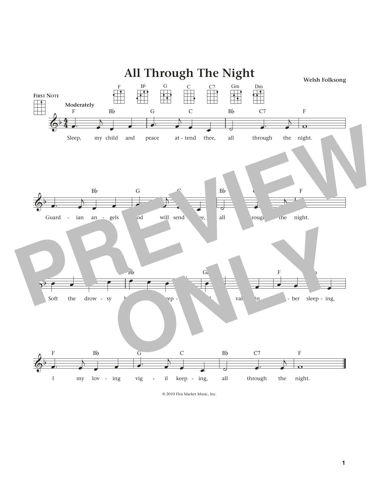 All Through The Night (from The Daily Ukulele) (arr. Liz and Jim Beloff) (Ukulele)
