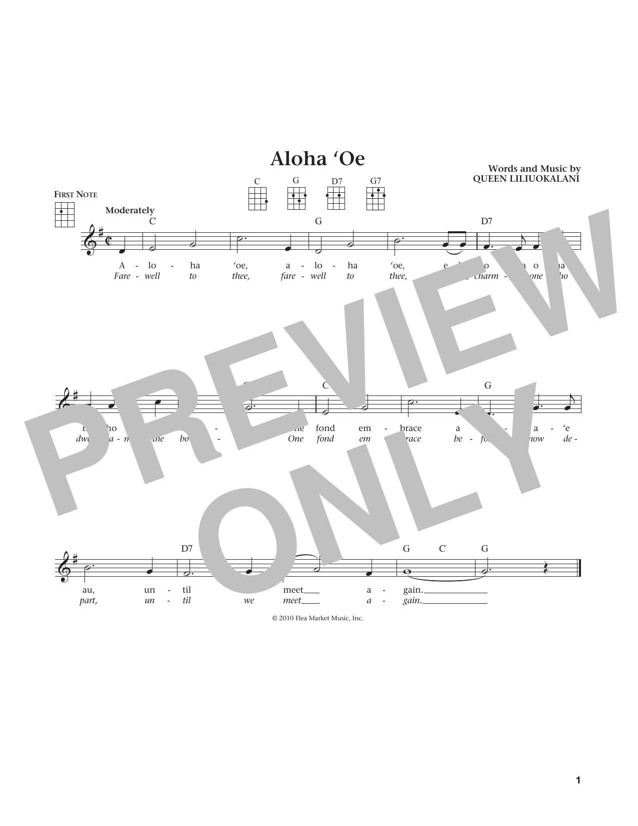 Aloha Oe (from The Daily Ukulele) (arr. Liz and Jim Beloff) (Ukulele)
