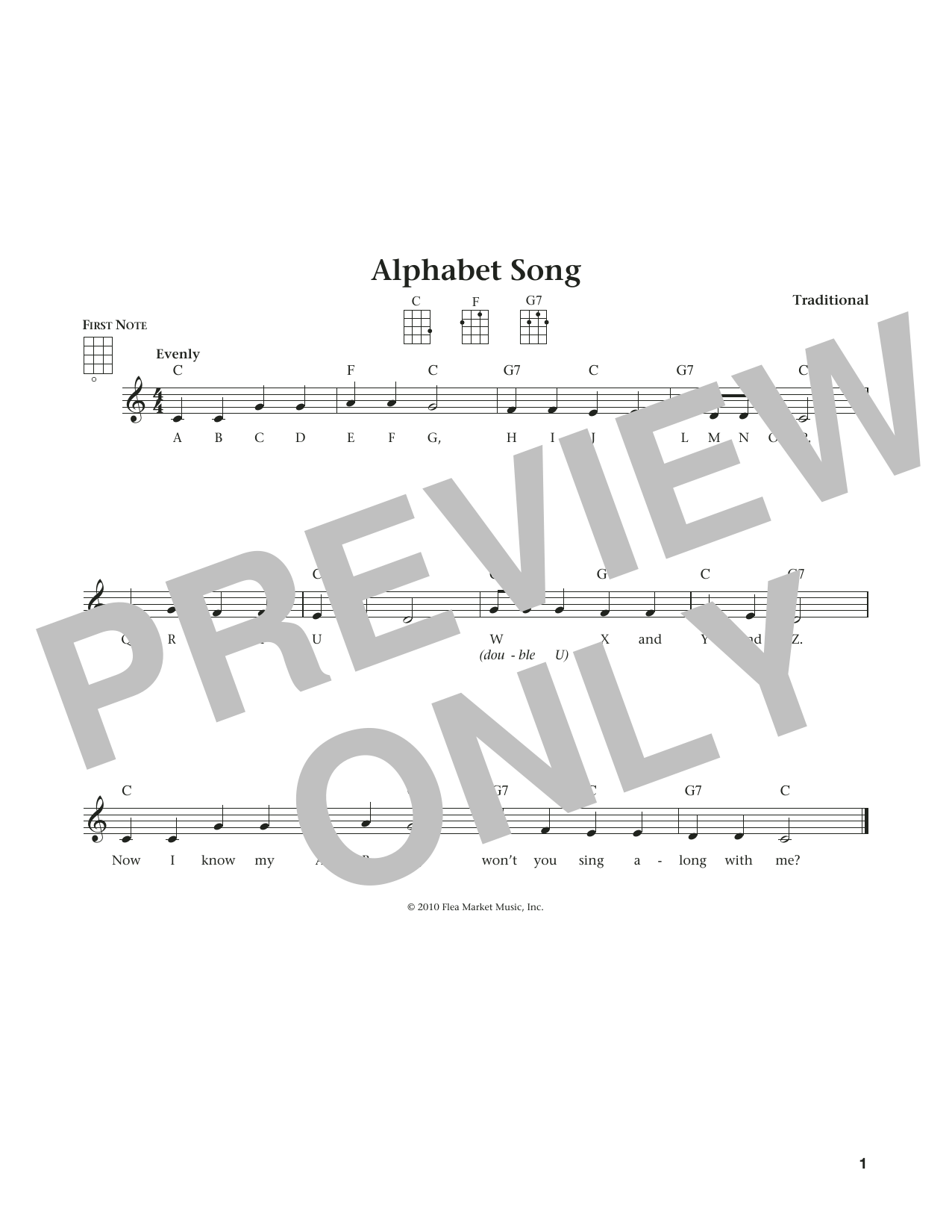 Alphabet Song (from The Daily Ukulele) (arr. Liz and Jim Beloff) (Ukulele)