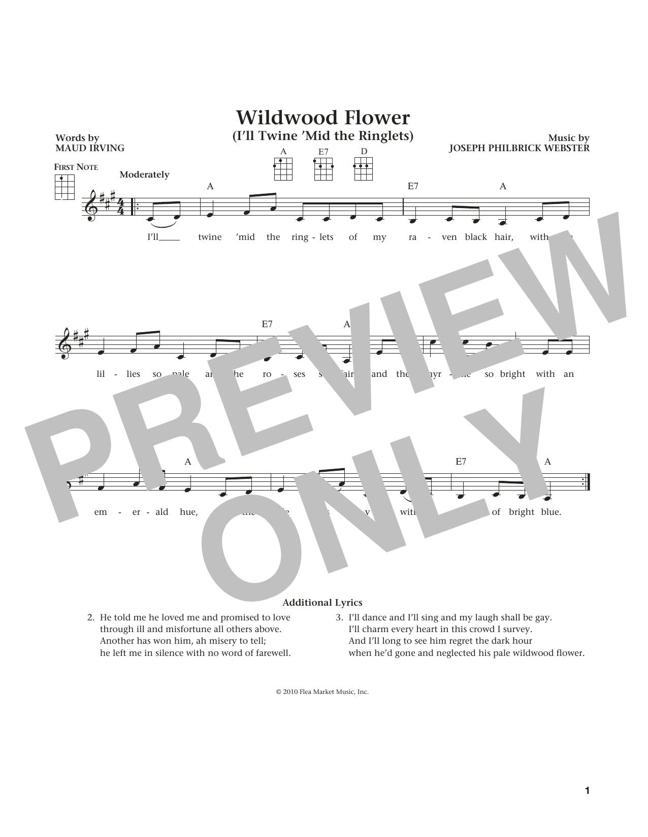 Wildwood Flower (from The Daily Ukulele) (arr. Liz and Jim Beloff) (Ukulele)