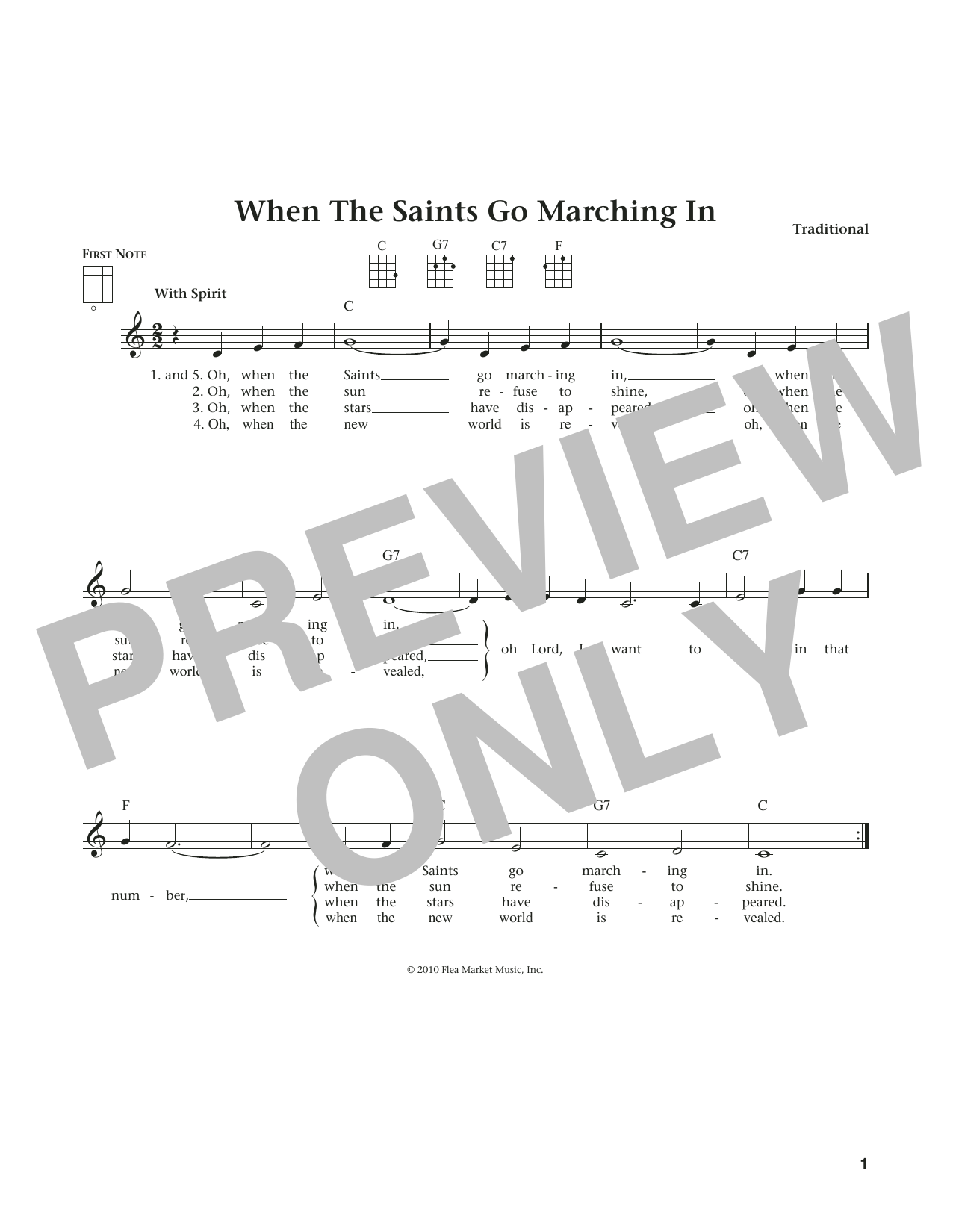 When The Saints Go Marching In (from The Daily Ukulele) (arr. Liz and Jim Beloff) (Ukulele)