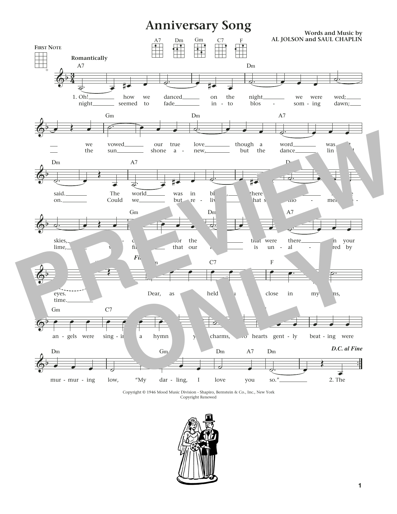 Anniversary Song (from The Daily Ukulele) (arr. Liz and Jim Beloff) (Ukulele)