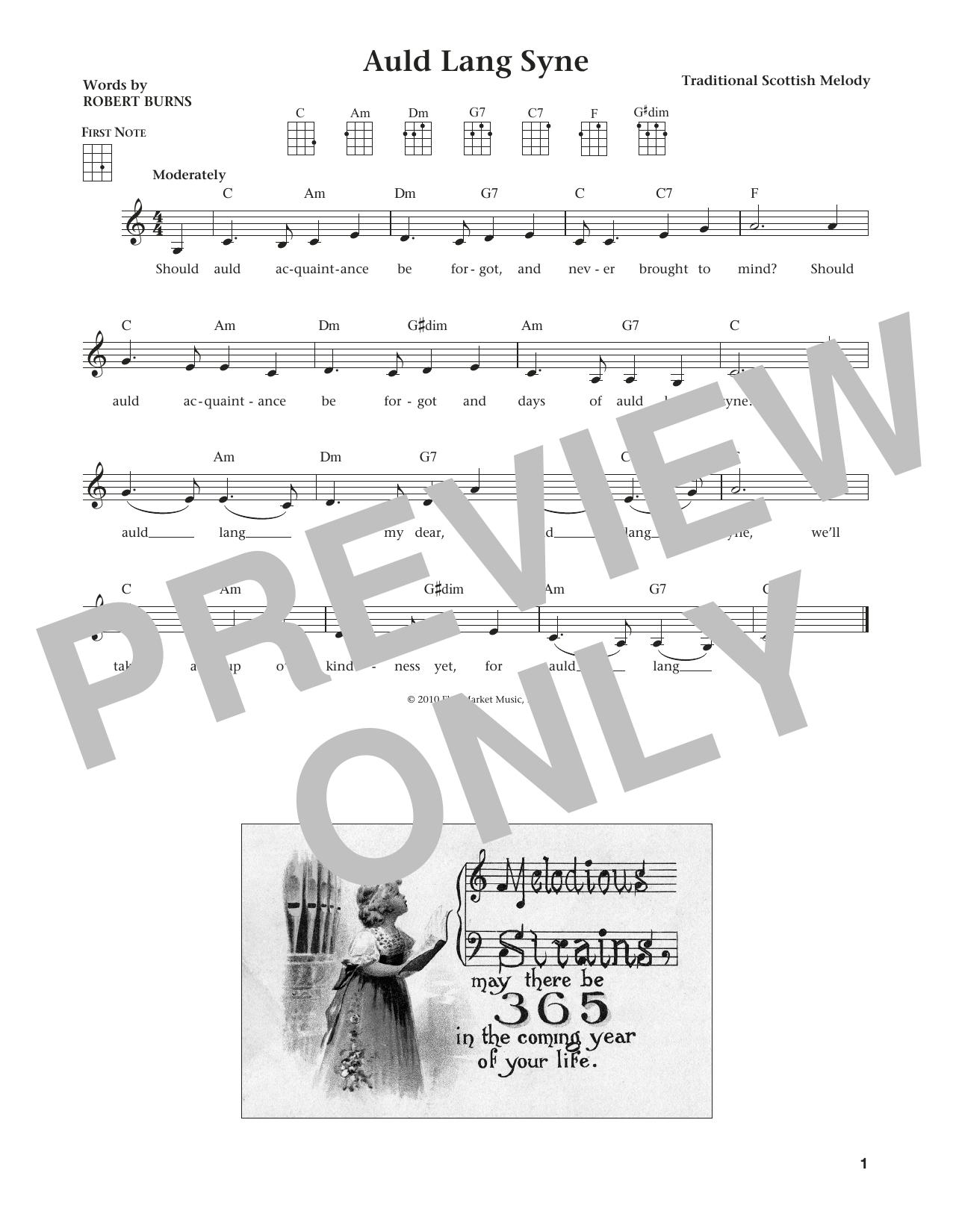 Auld Lang Syne (from The Daily Ukulele) (arr. Liz and Jim Beloff) (Ukulele)