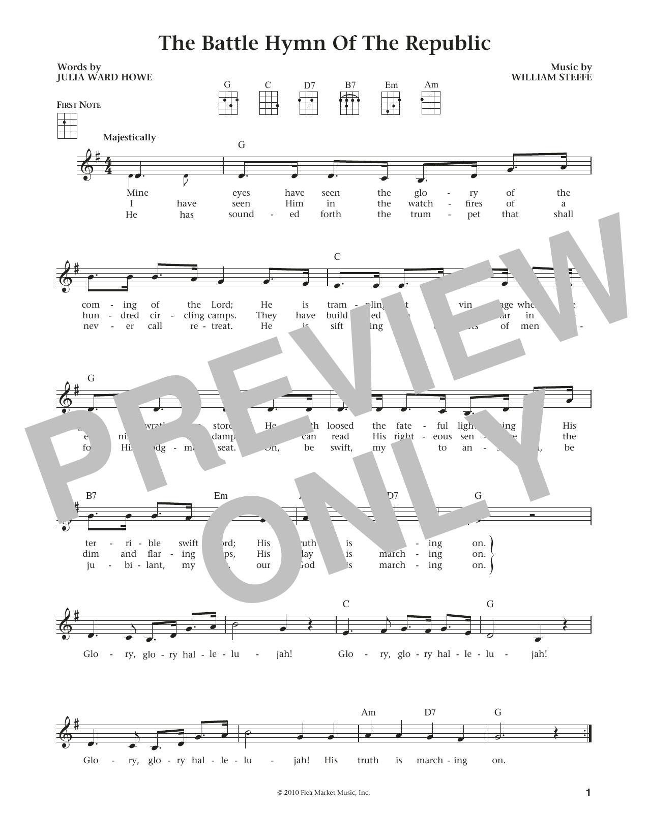 Battle Hymn Of The Republic (from The Daily Ukulele) (arr. Liz and Jim Beloff) (Ukulele)