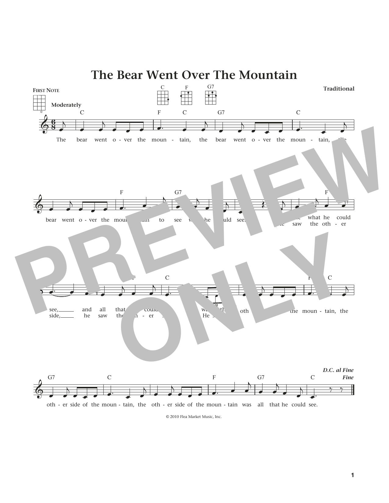 The Bear Went Over The Mountain (from The Daily Ukulele) (arr. Liz and Jim Beloff) (Ukulele)