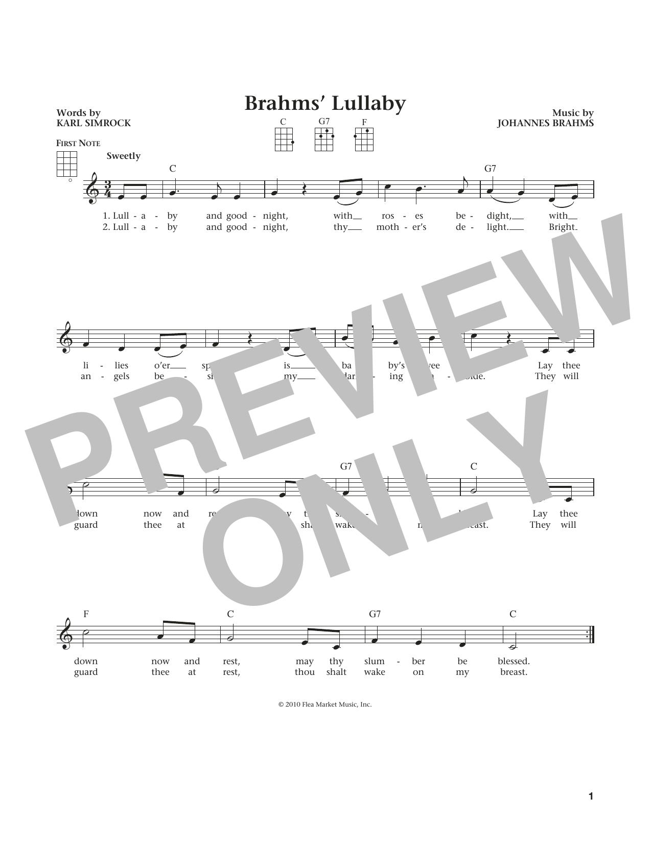 Lullaby (Cradle Song) (from The Daily Ukulele) (arr. Liz and Jim Beloff) (Ukulele)