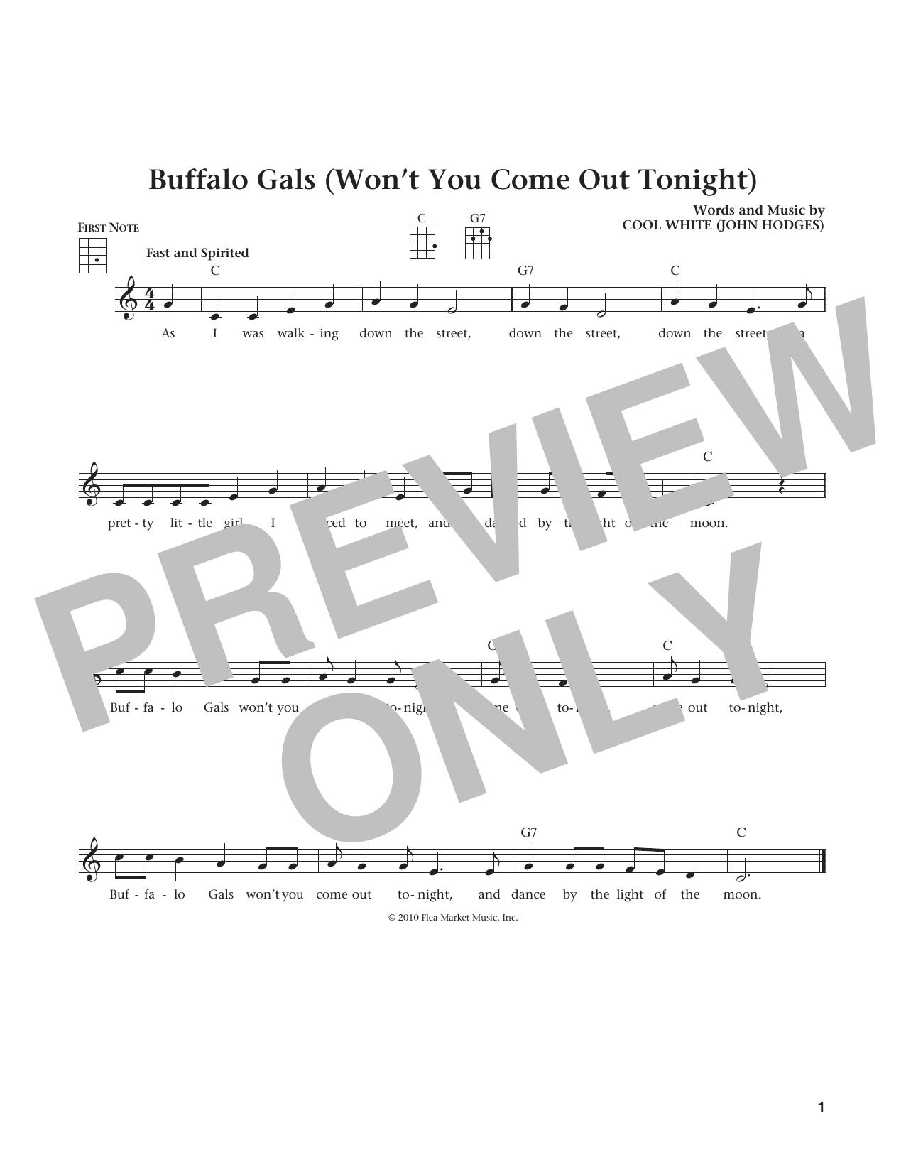 Buffalo Gals (Won't You Come Out Tonight?) (from The Daily Ukulele) (arr. Liz and Jim Beloff) (Ukulele)