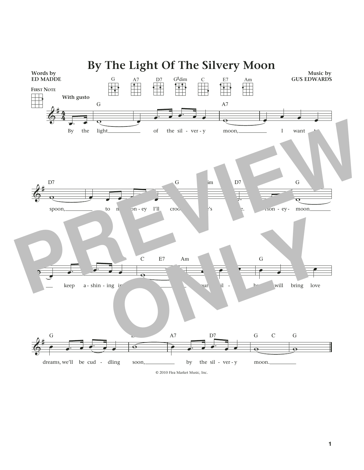 By The Light Of The Silvery Moon (from The Daily Ukulele) (arr. Liz and Jim Beloff) (Ukulele)