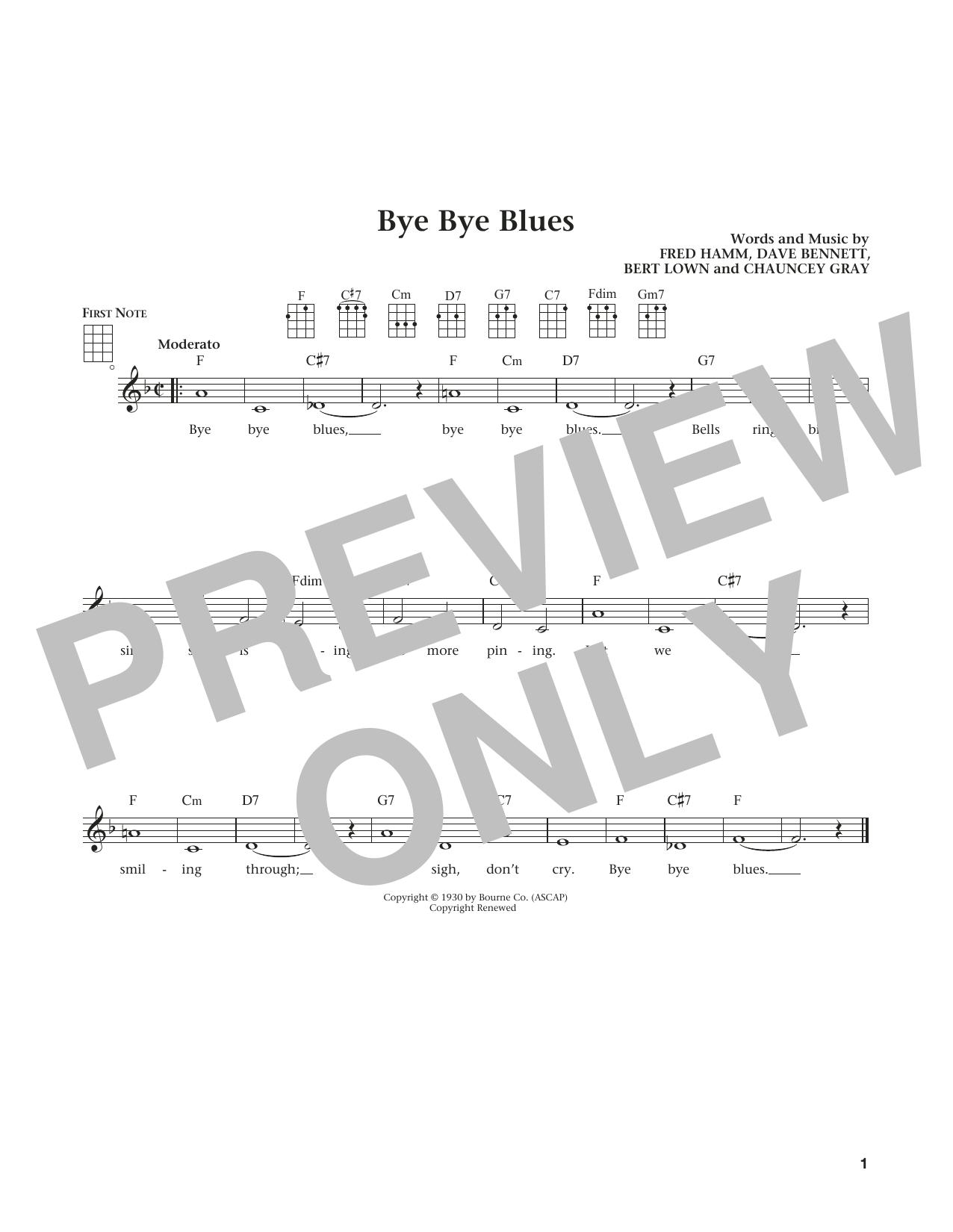 Bye Bye Blues (from The Daily Ukulele) (arr. Liz and Jim Beloff) (Ukulele)