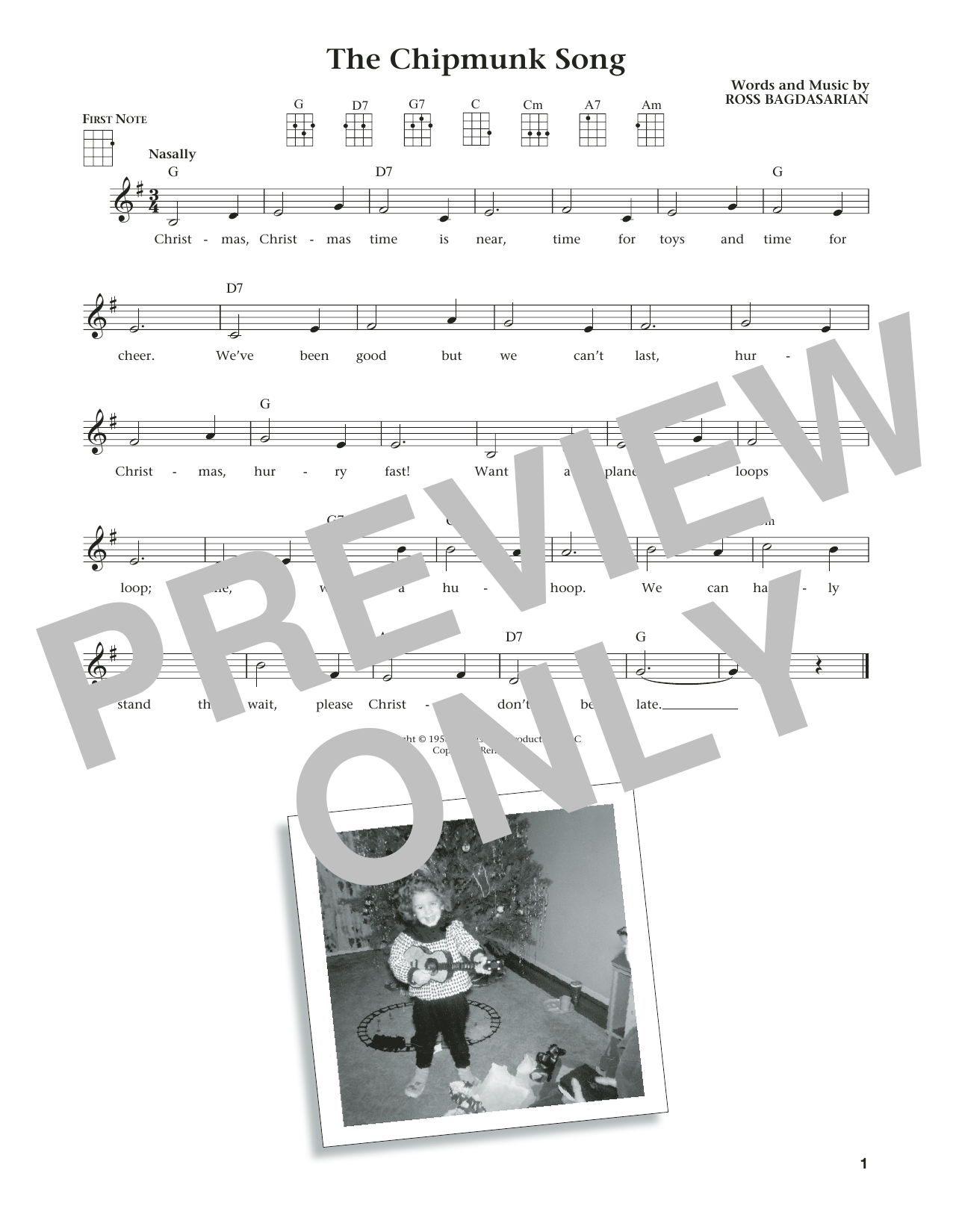 The Chipmunk Song (from The Daily Ukulele) (arr. Liz and Jim Beloff) (Ukulele)