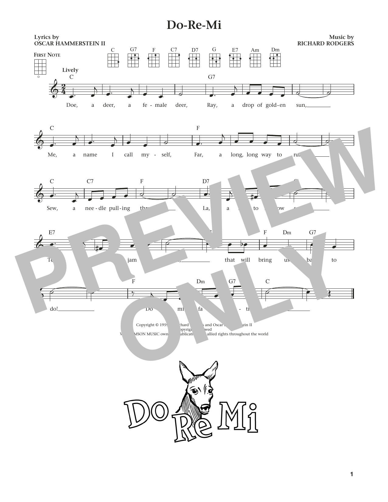 Do-Re-Mi (from The Daily Ukulele) (arr. Liz and Jim Beloff) (Ukulele)