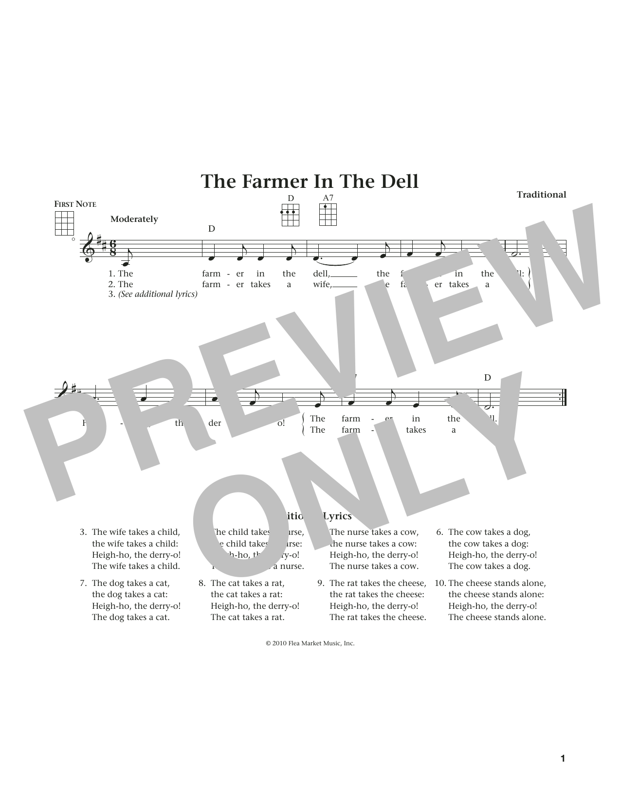 The Farmer In The Dell (from The Daily Ukulele) (arr. Liz and Jim Beloff) (Ukulele)