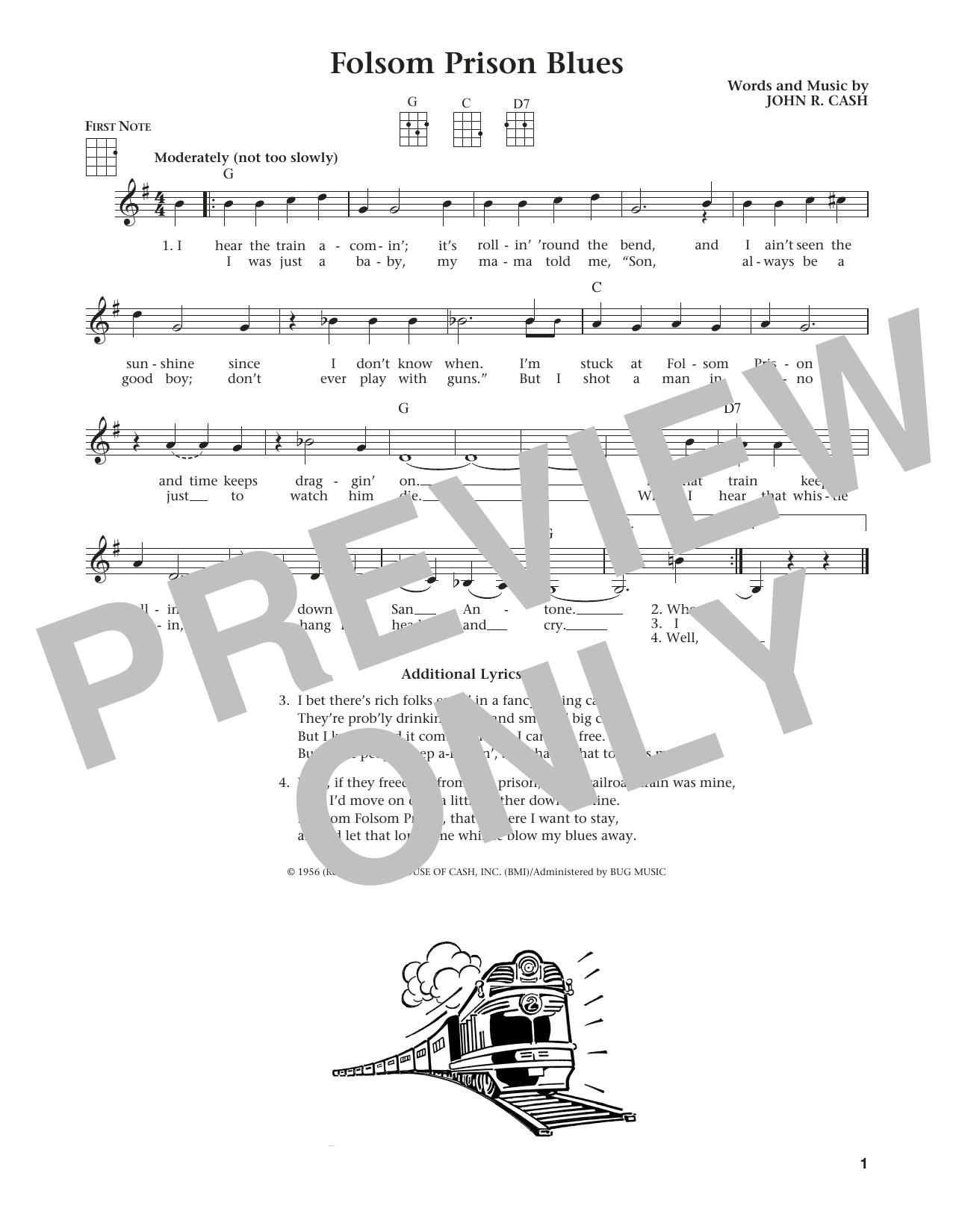 Folsom Prison Blues (from The Daily Ukulele) (arr. Liz and Jim Beloff) (Ukulele)