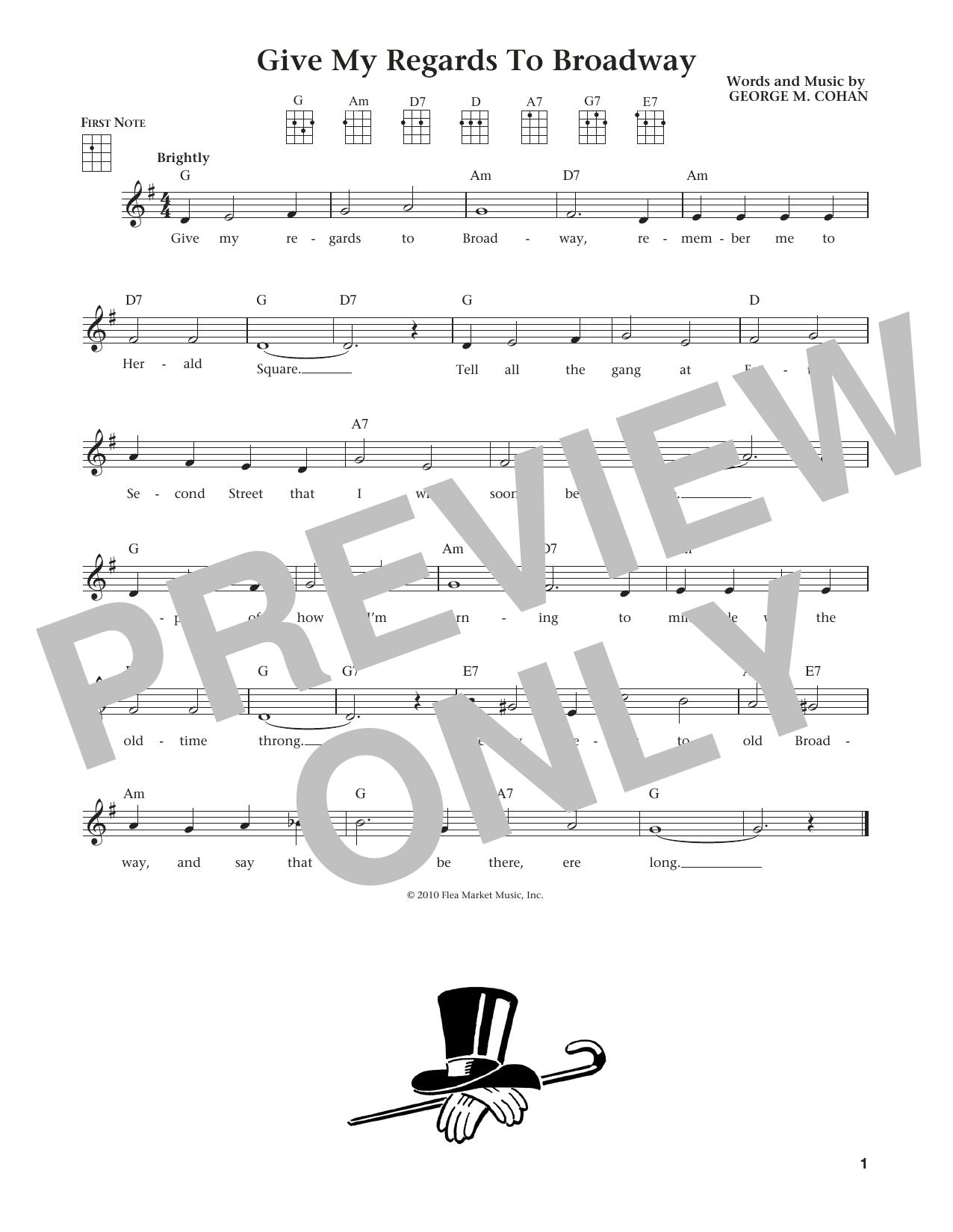Give My Regards To Broadway (from The Daily Ukulele) (arr. Liz and Jim Beloff) (Ukulele)