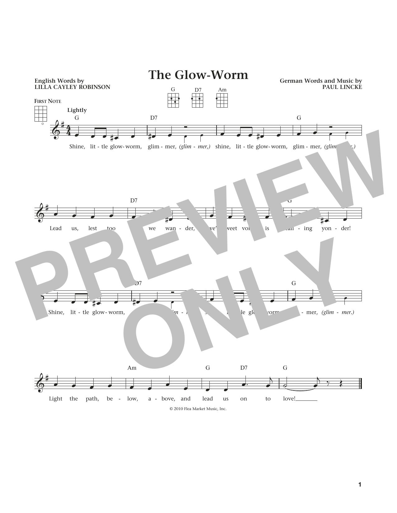 The Glow Worm (from The Daily Ukulele) (arr. Liz and Jim Beloff) (Ukulele)