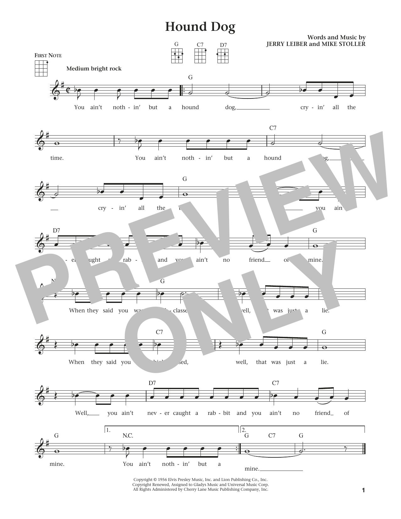 Hound Dog By Elvis Presley Ukulele Guitar Instructor