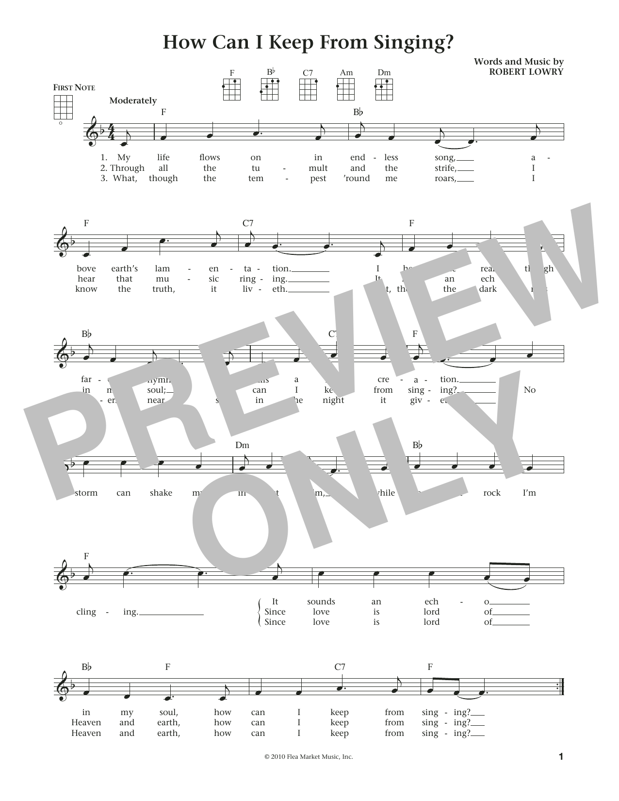 How Can I Keep From Singing (from The Daily Ukulele) (arr. Liz and Jim Beloff) (Ukulele)