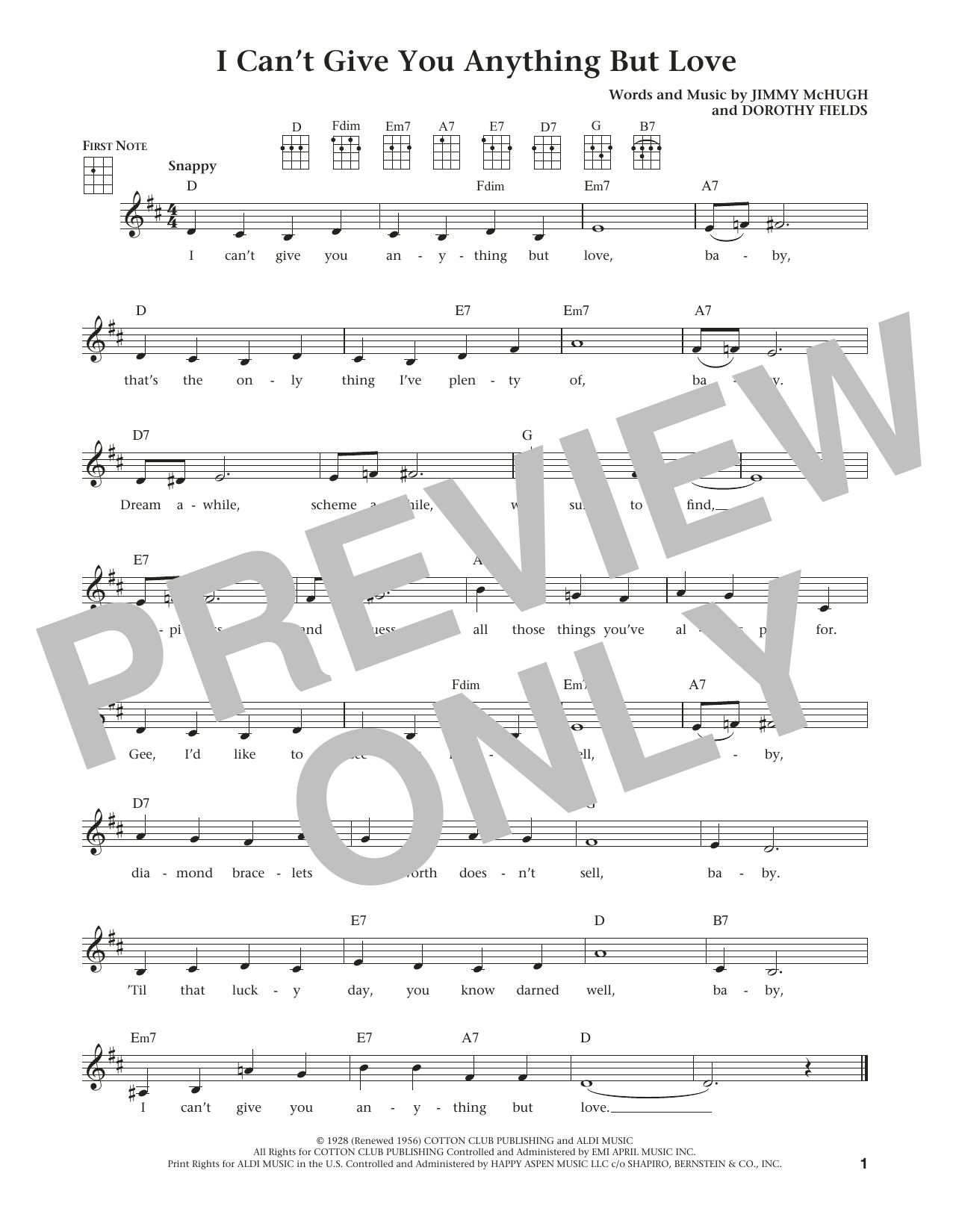 I Can't Give You Anything But Love (from The Daily Ukulele) (arr. Liz and Jim Beloff) (Ukulele)