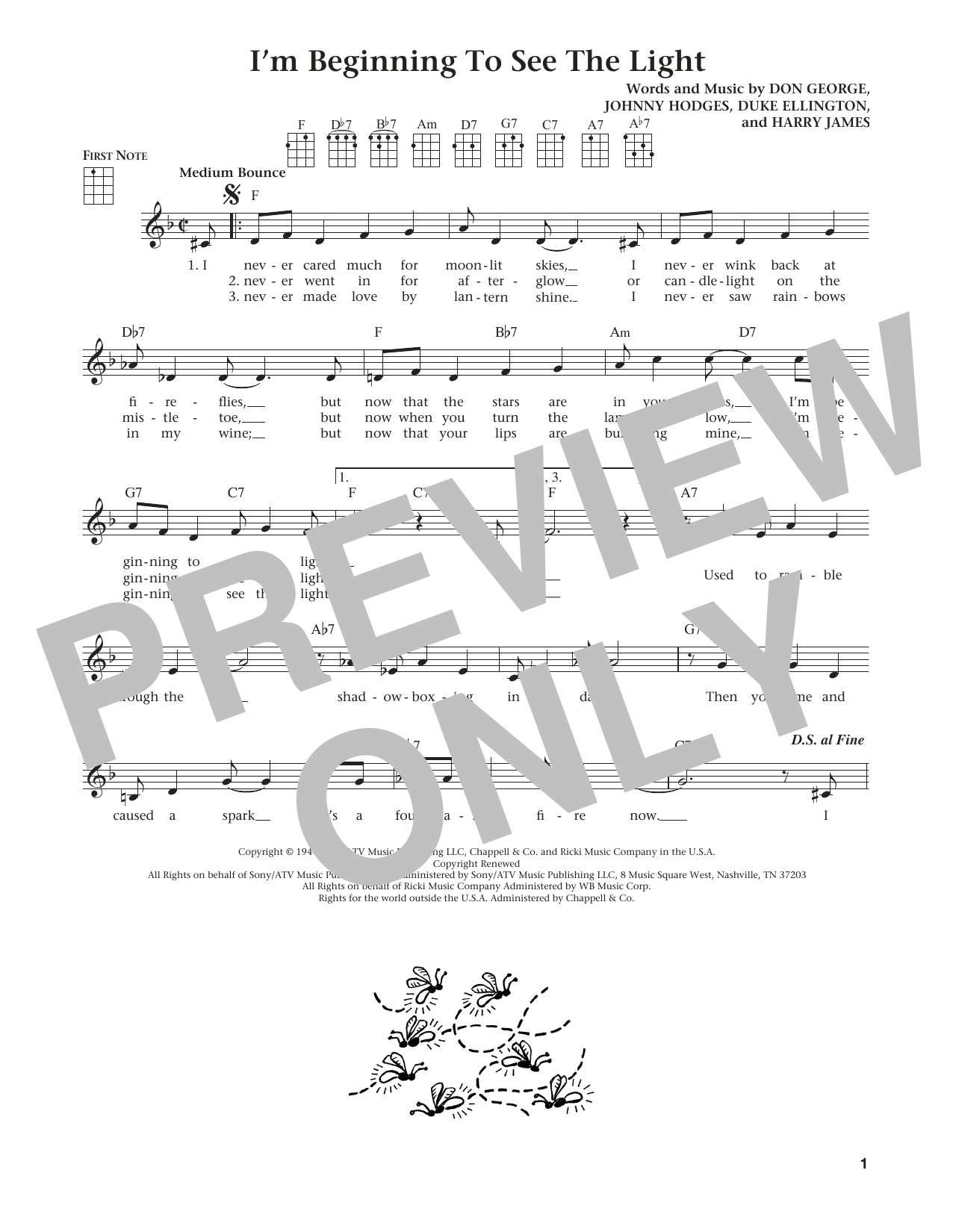 I'm Beginning To See The Light (from The Daily Ukulele) (arr. Liz and Jim Beloff) (Ukulele)