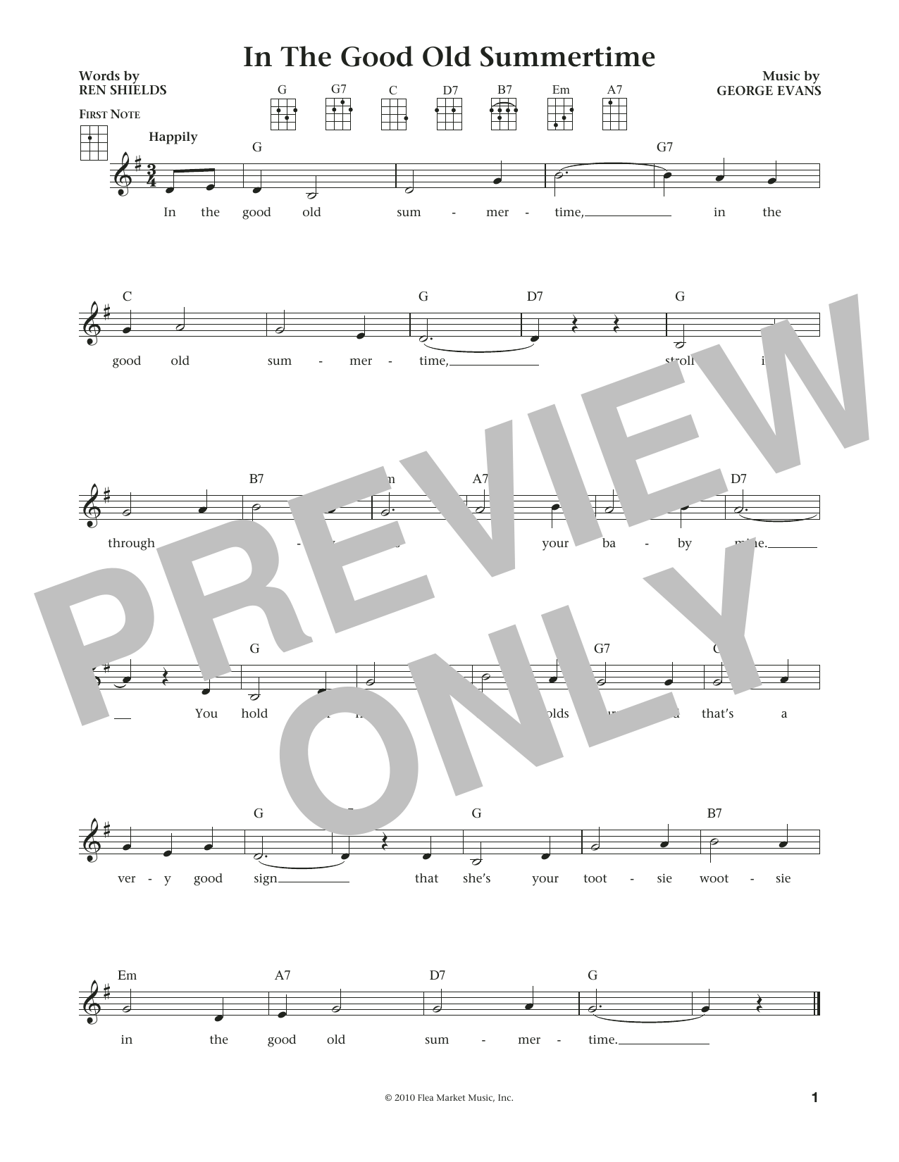 In The Good Old Summertime (from The Daily Ukulele) (arr. Liz and Jim Beloff) (Ukulele)