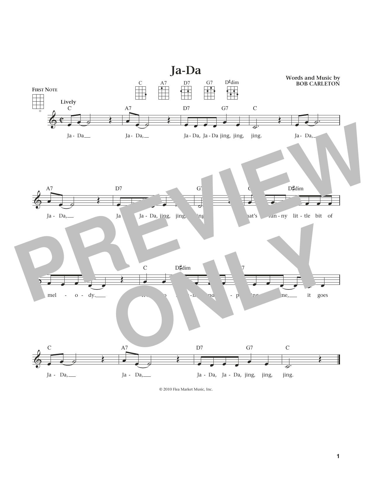 Ja-Da (from The Daily Ukulele) (arr. Liz and Jim Beloff) (Ukulele)