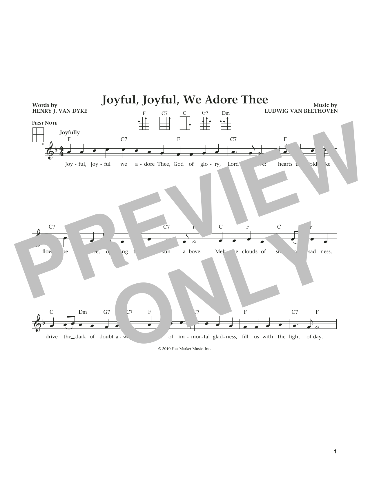Joyful, Joyful, We Adore Thee (from The Daily Ukulele) (arr. Liz and Jim Beloff) (Ukulele)