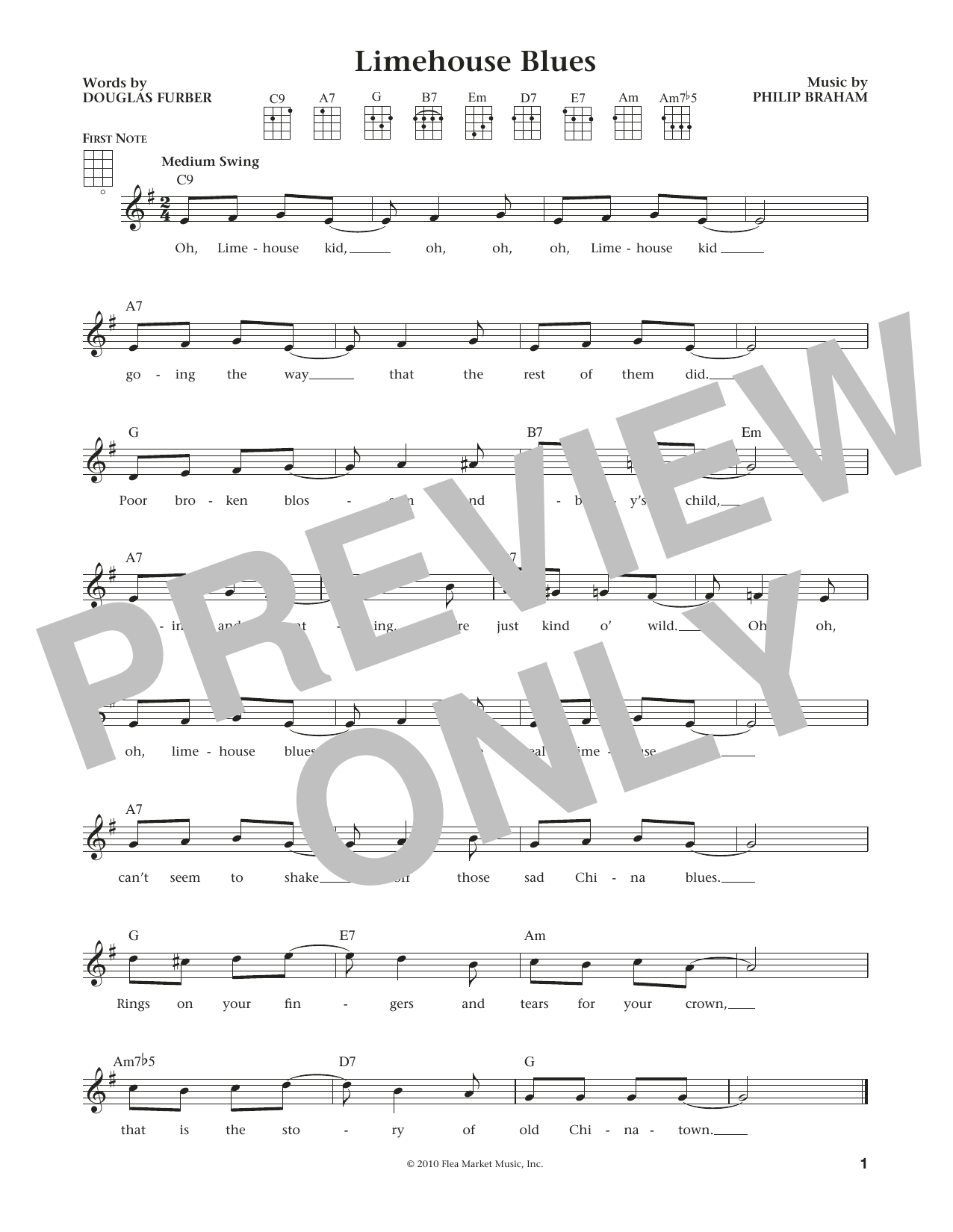 Limehouse Blues (from The Daily Ukulele) (arr. Liz and Jim Beloff) (Ukulele)