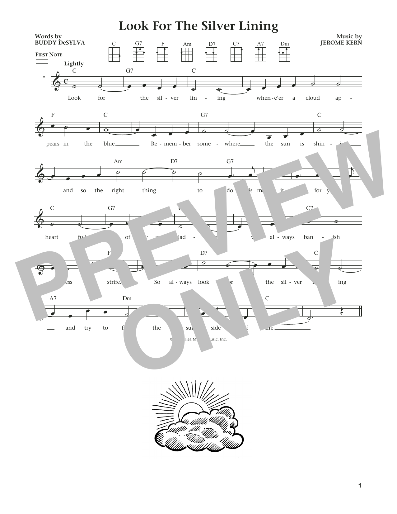 Look For The Silver Lining (from The Daily Ukulele) (arr. Liz and Jim Beloff) (Ukulele)