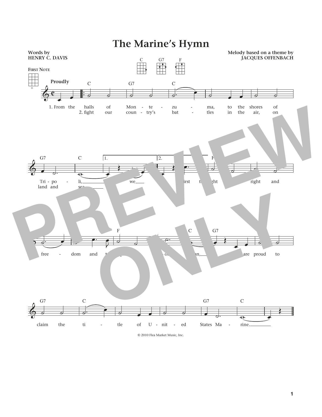 Marine's Hymn (from The Daily Ukulele) (arr. Liz and Jim Beloff) (Ukulele)