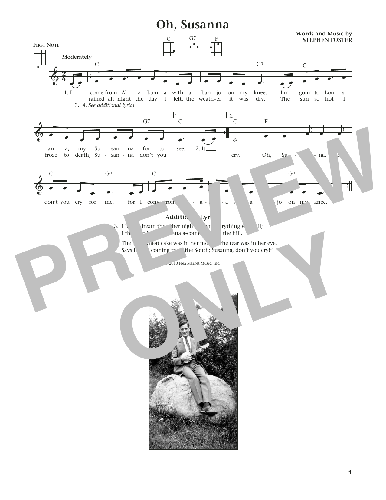 Oh! Susanna (from The Daily Ukulele) (arr. Liz and Jim Beloff) (Ukulele)