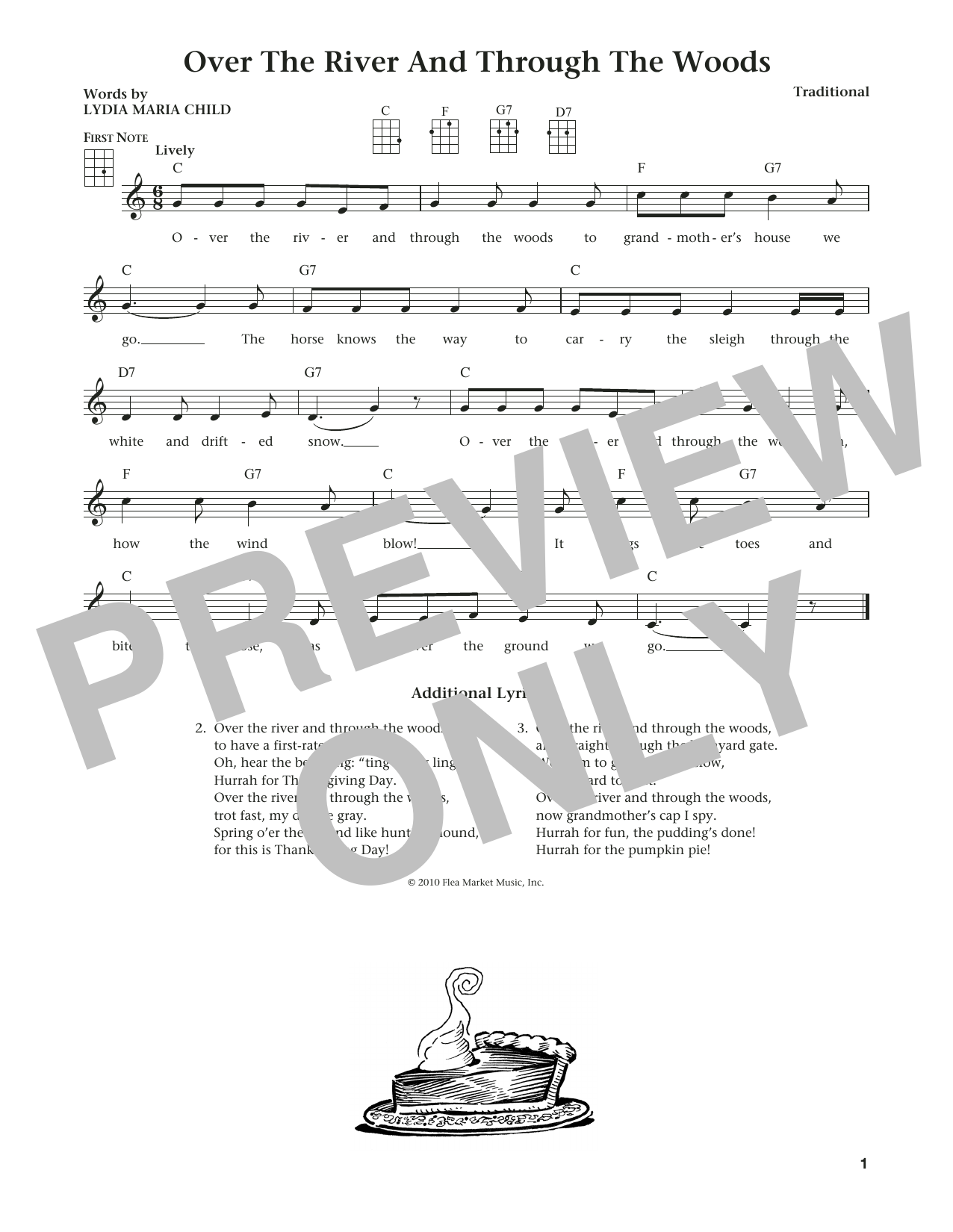 Over The River And Through The Woods (from The Daily Ukulele) (arr. Liz and Jim Beloff) (Ukulele)