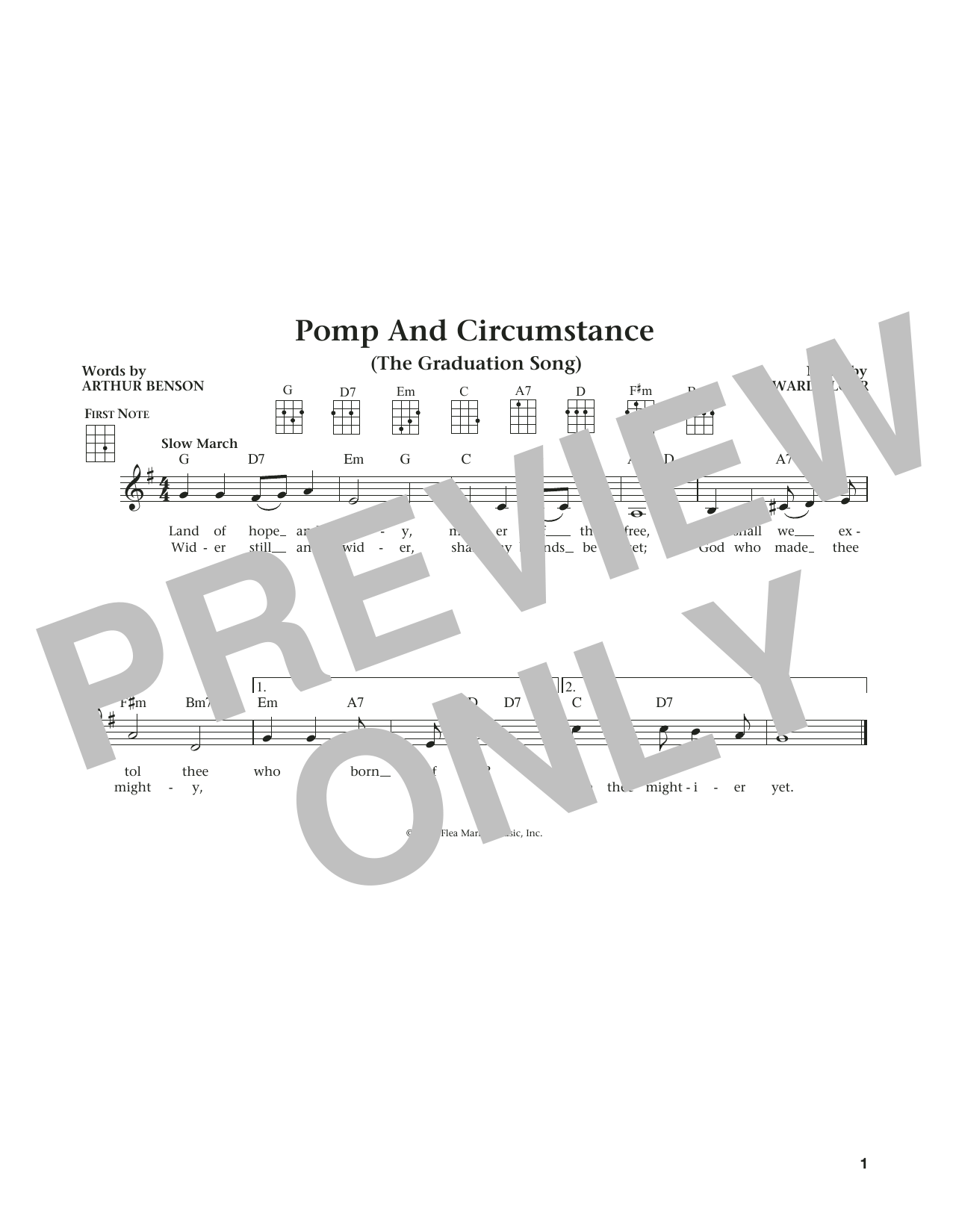 Pomp And Circumstance (from The Daily Ukulele) (arr. Liz and Jim Beloff) (Ukulele)