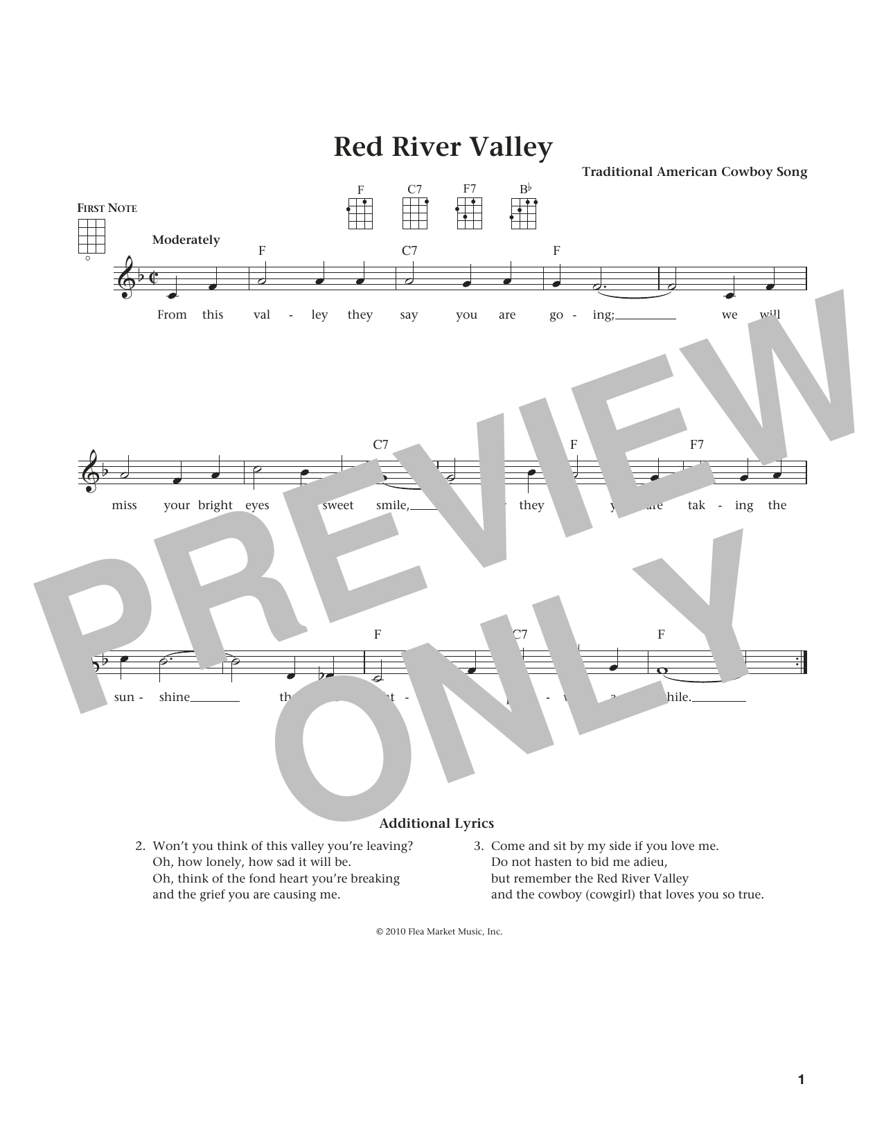 The Red River Valley (from The Daily Ukulele) (arr. Liz and Jim Beloff) (Ukulele)