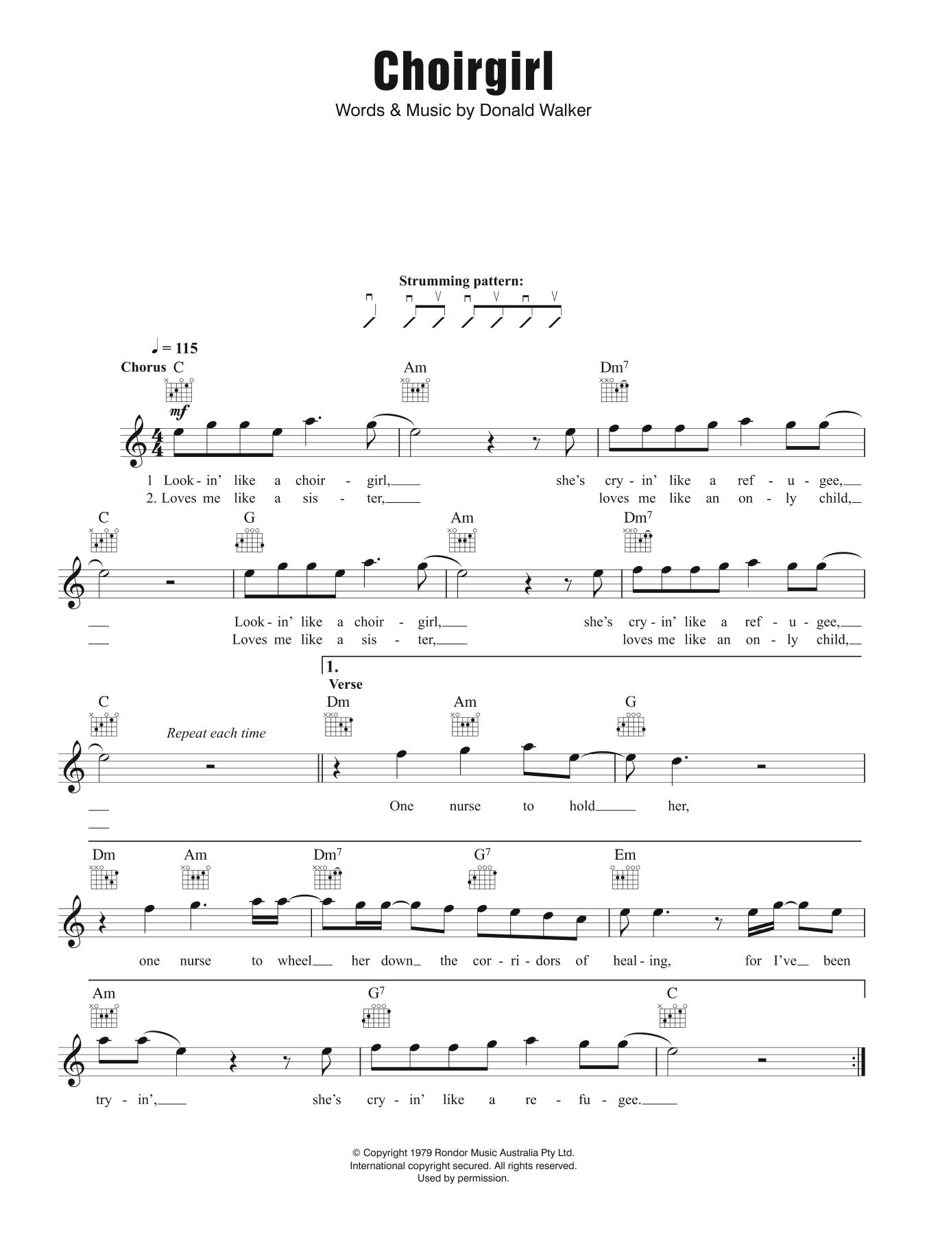 Choirgirl Sheet Music