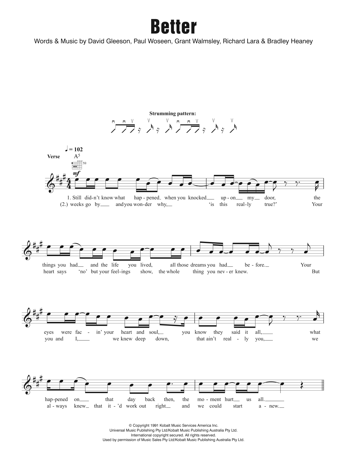 Better Sheet Music