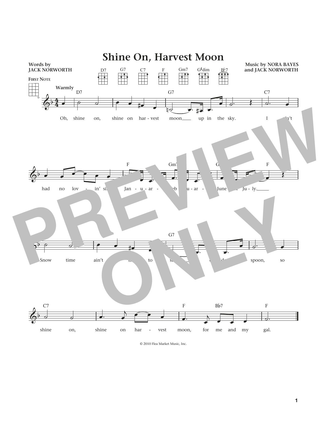 Shine On, Harvest Moon (from The Daily Ukulele) (arr. Liz and Jim Beloff) (Ukulele)