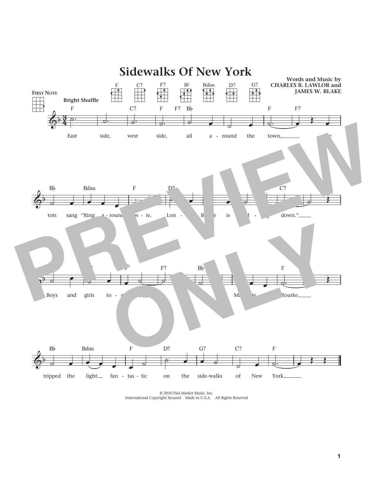 Sidewalks Of New York (from The Daily Ukulele) (arr. Liz and Jim Beloff) (Ukulele)