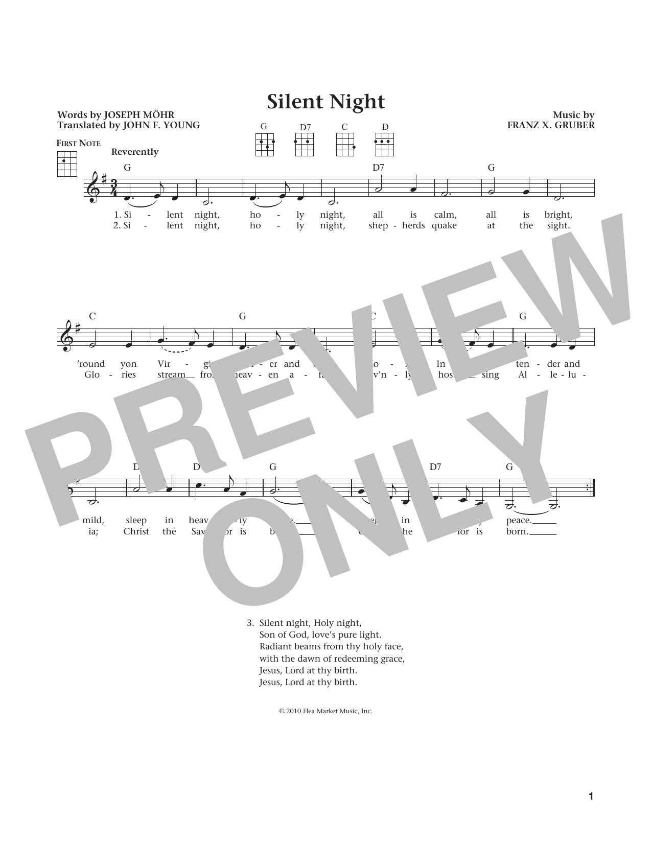 Silent Night (from The Daily Ukulele) (arr. Liz and Jim Beloff) (Ukulele)