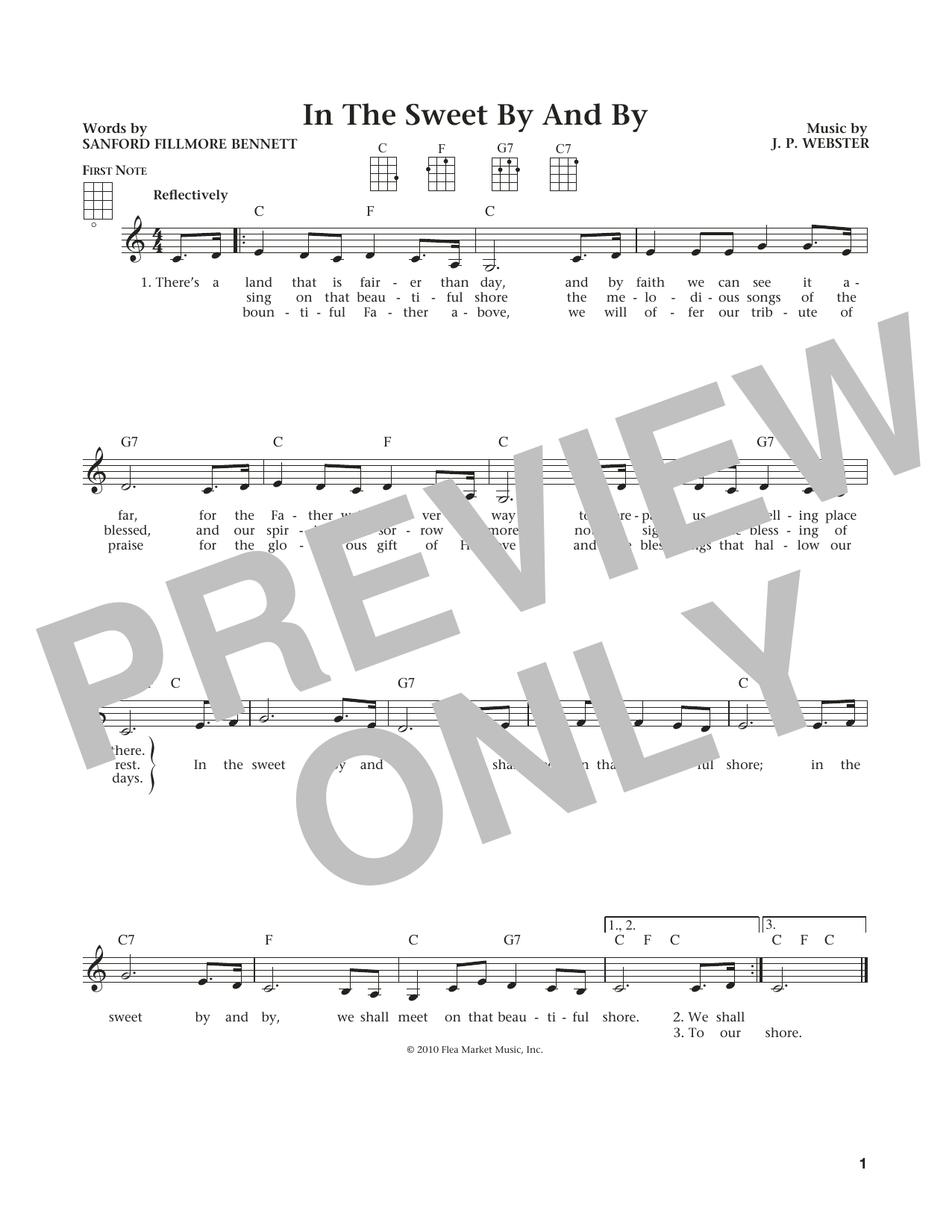Sweet By And By (from The Daily Ukulele) (arr. Liz and Jim Beloff) (Ukulele)