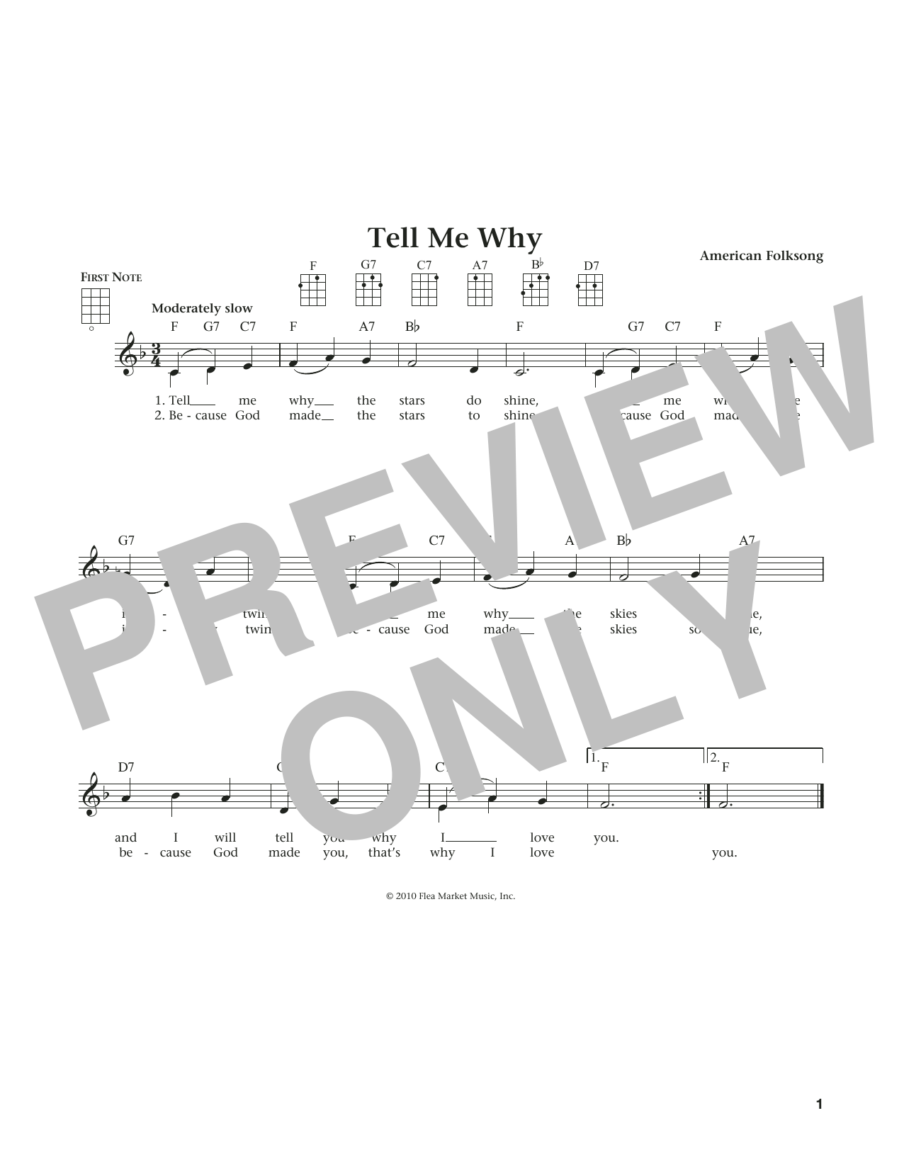 Tell Me Why (from The Daily Ukulele) (arr. Liz and Jim Beloff) (Ukulele)