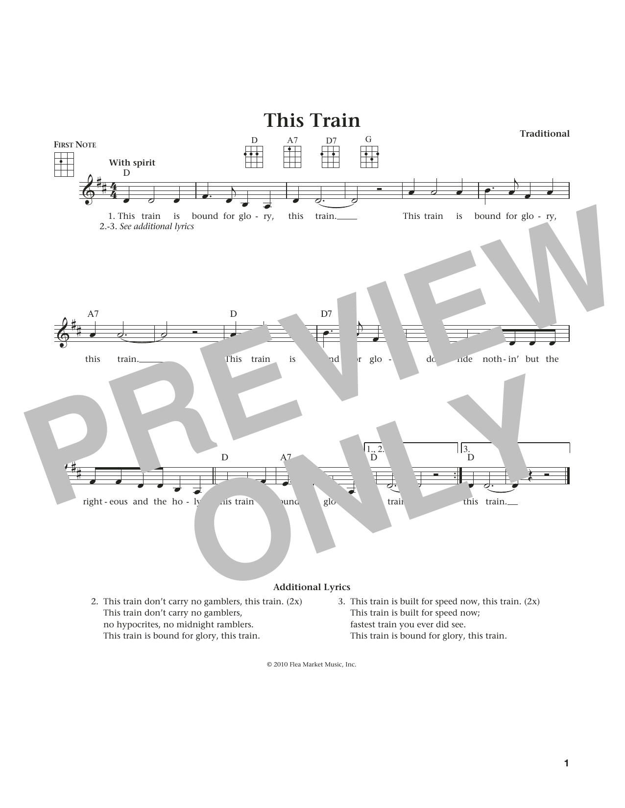 This Train (from The Daily Ukulele) (arr. Liz and Jim Beloff) (Ukulele)