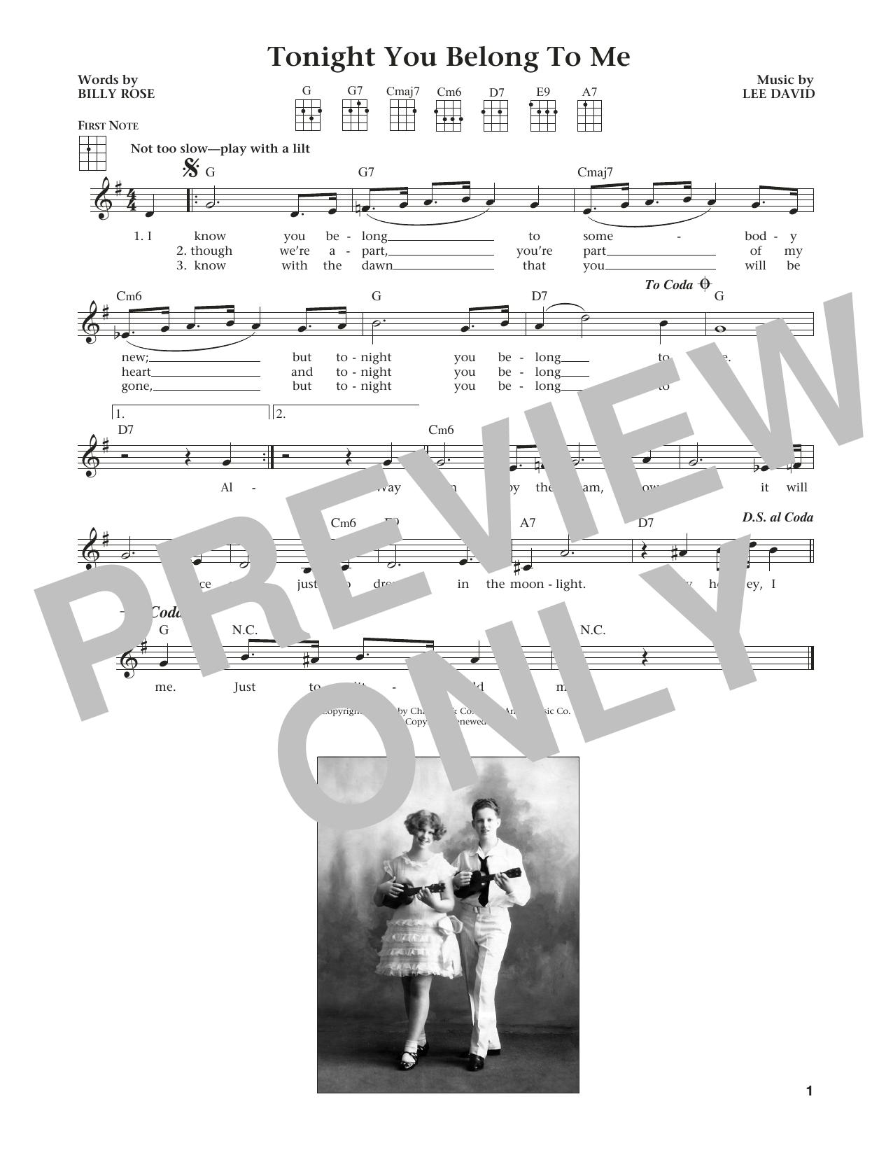 Tonight You Belong To Me (from The Daily Ukulele) (arr. Liz and Jim Beloff) (Ukulele)