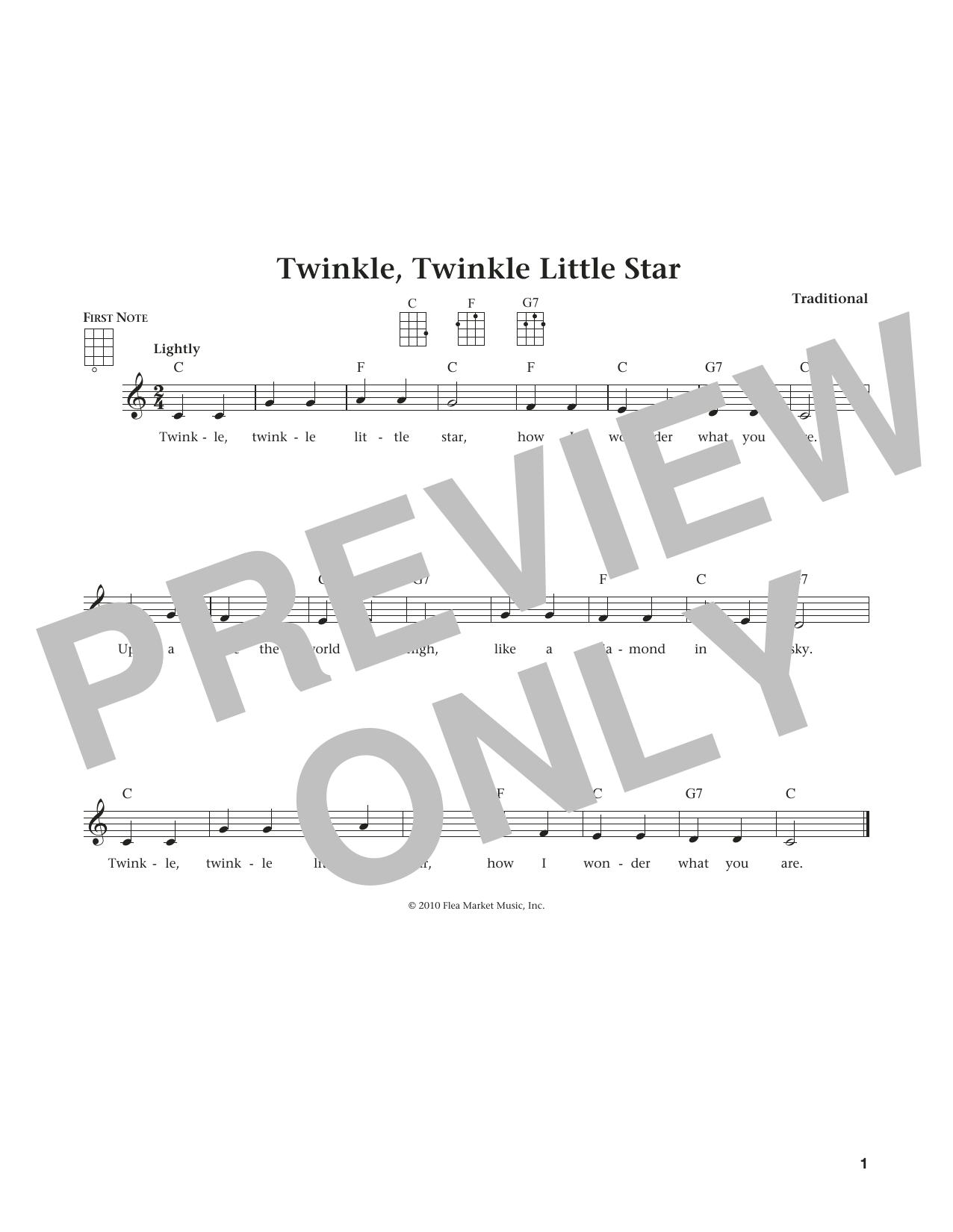 Twinkle, Twinkle Little Star (from The Daily Ukulele) (arr. Liz and Jim Beloff) (Ukulele)