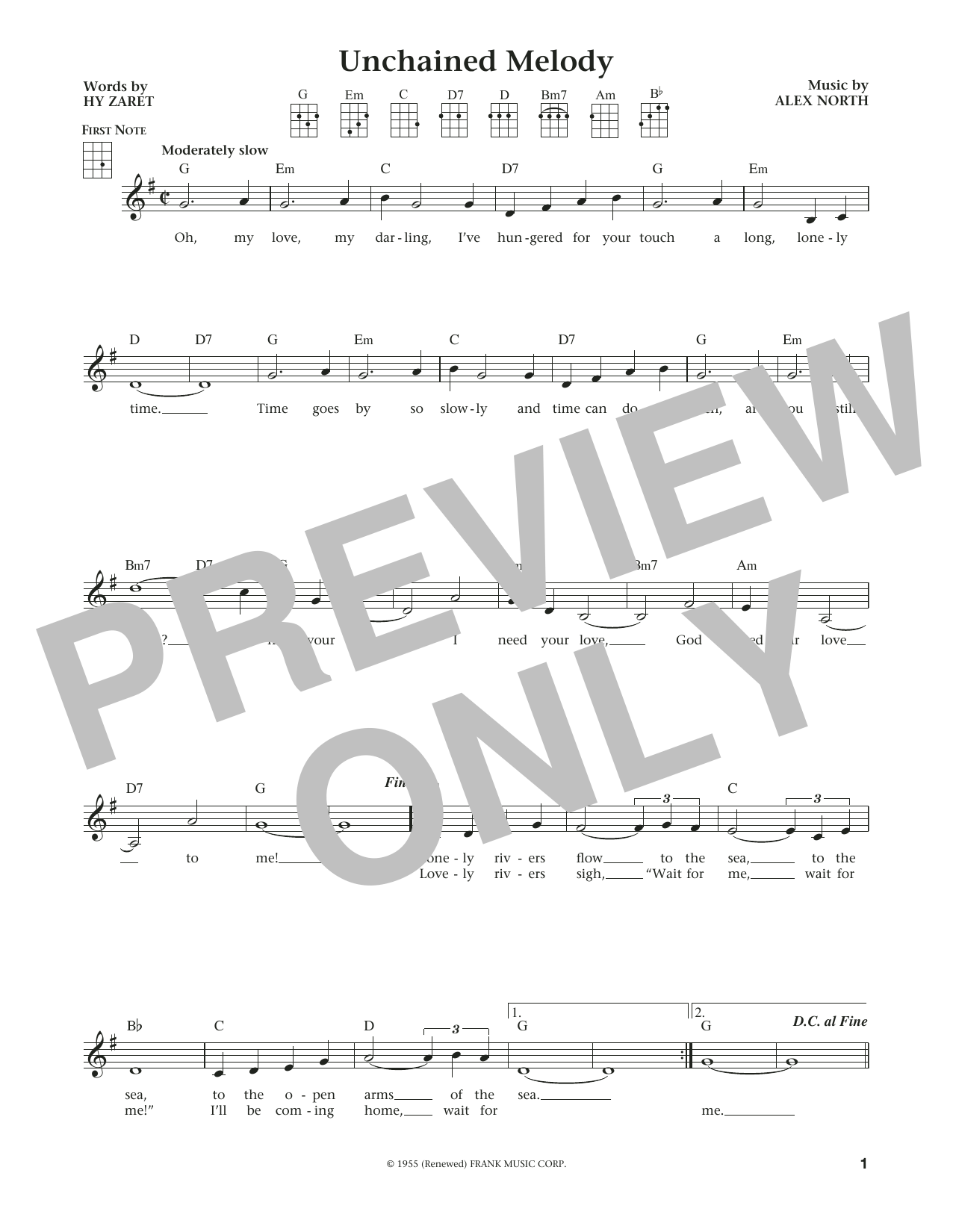 Unchained Melody By The Righteous Brothers Ukulele Guitar Instructor