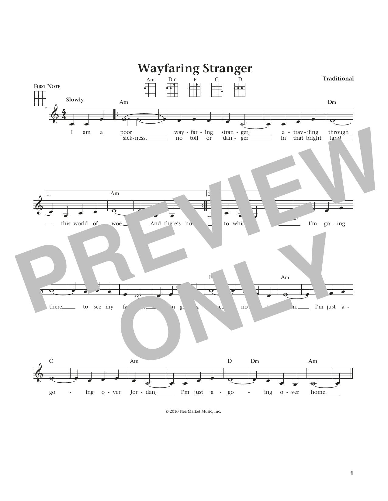 Wayfaring Stranger (from The Daily Ukulele) (arr. Liz and Jim Beloff) (Ukulele)