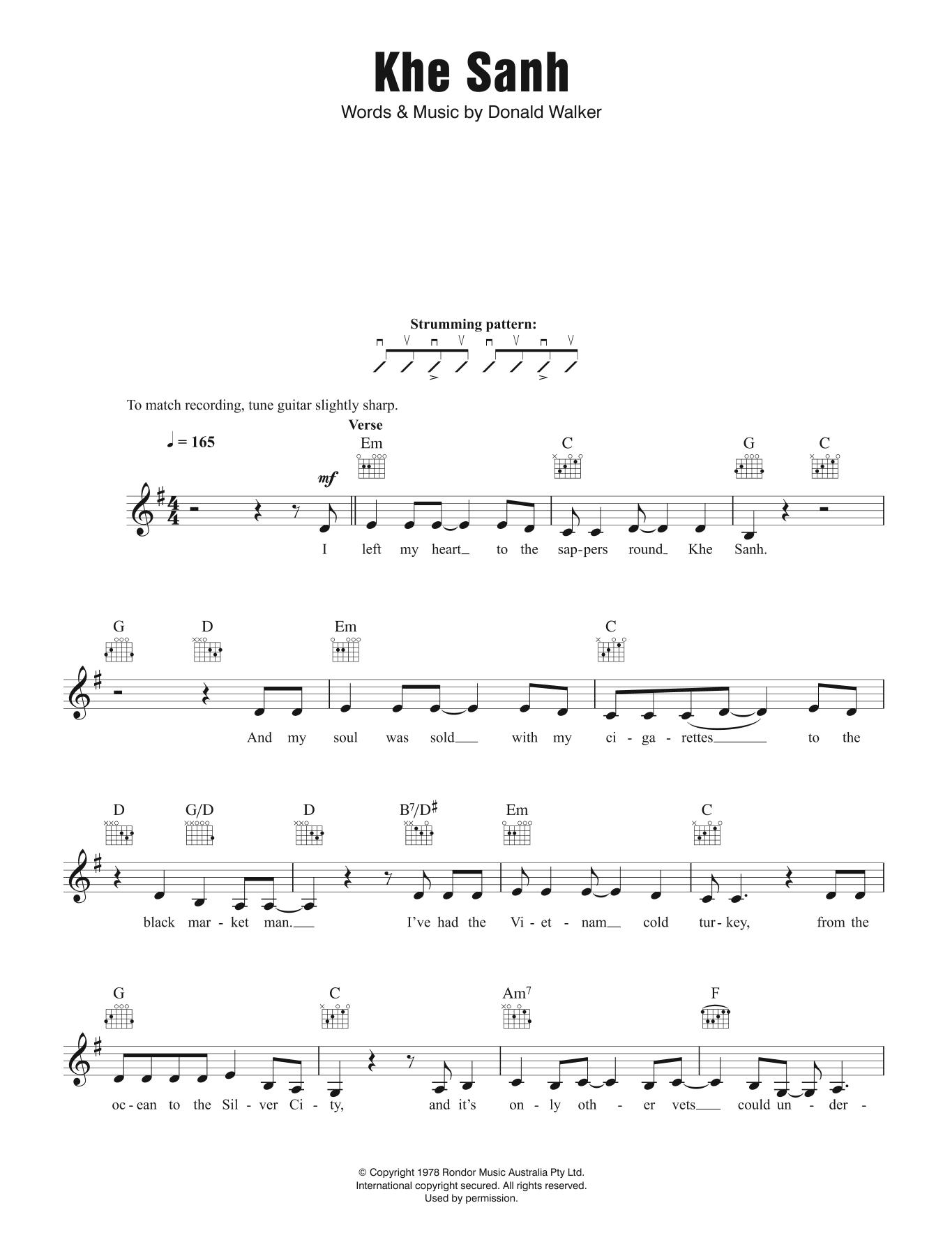 Khe Sanh Sheet Music